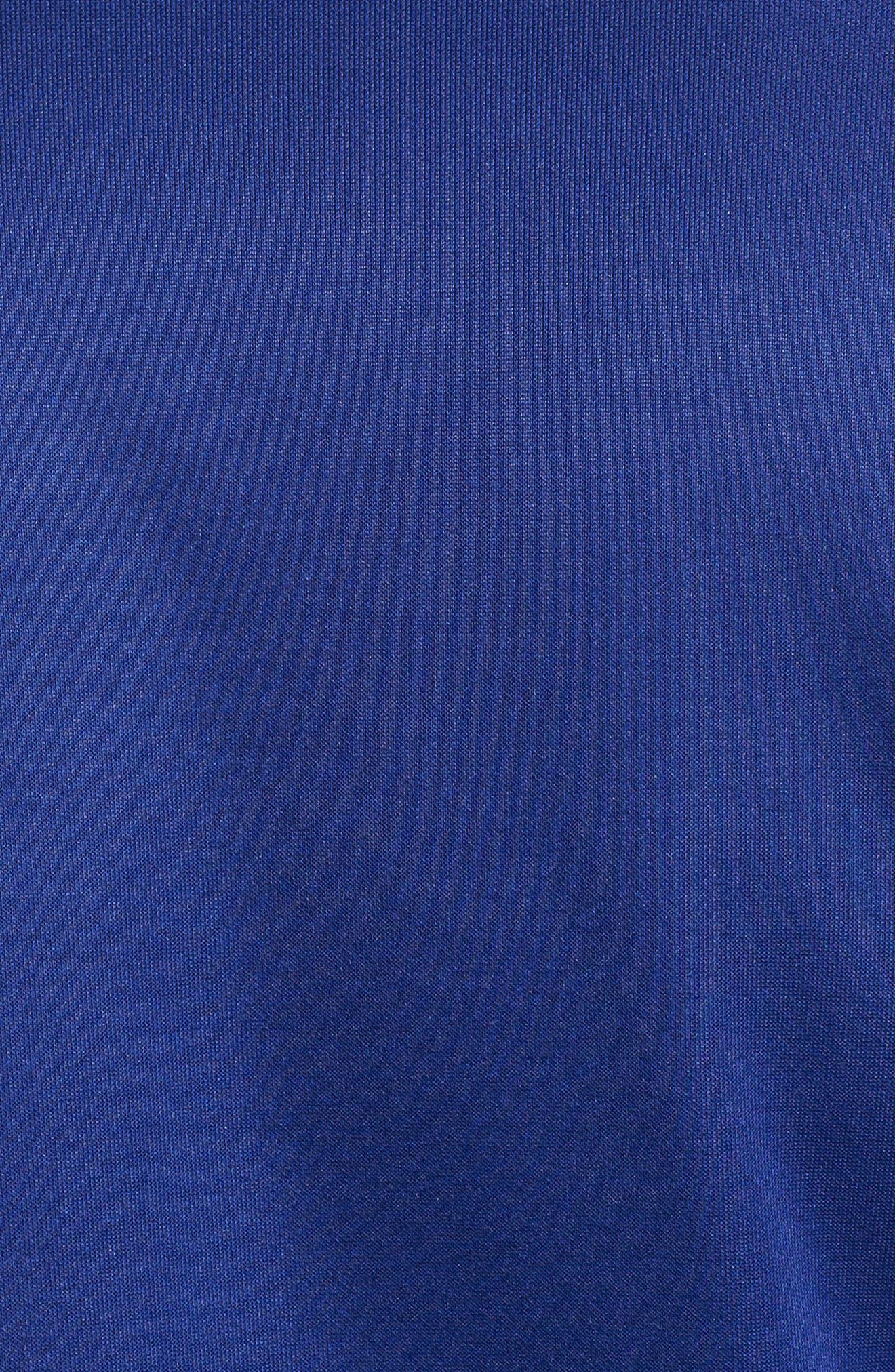 Sportswear Zip Track Jacket,                             Alternate thumbnail 5, color,                             DEEP ROYAL BLUE/ WHITE/ BLACK
