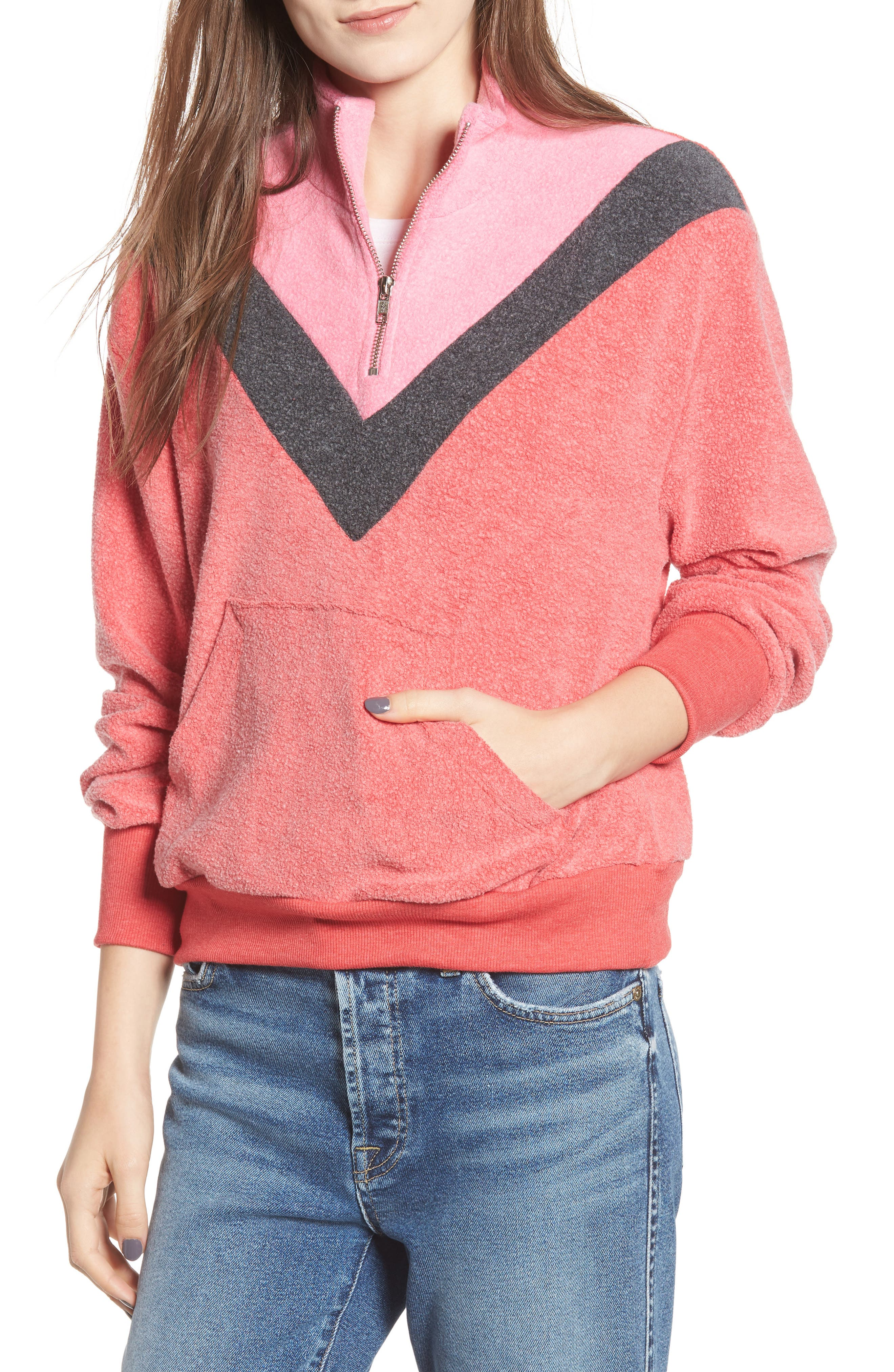 Soto Warm-Up Sweatshirt,                             Main thumbnail 1, color,                             SCARLET