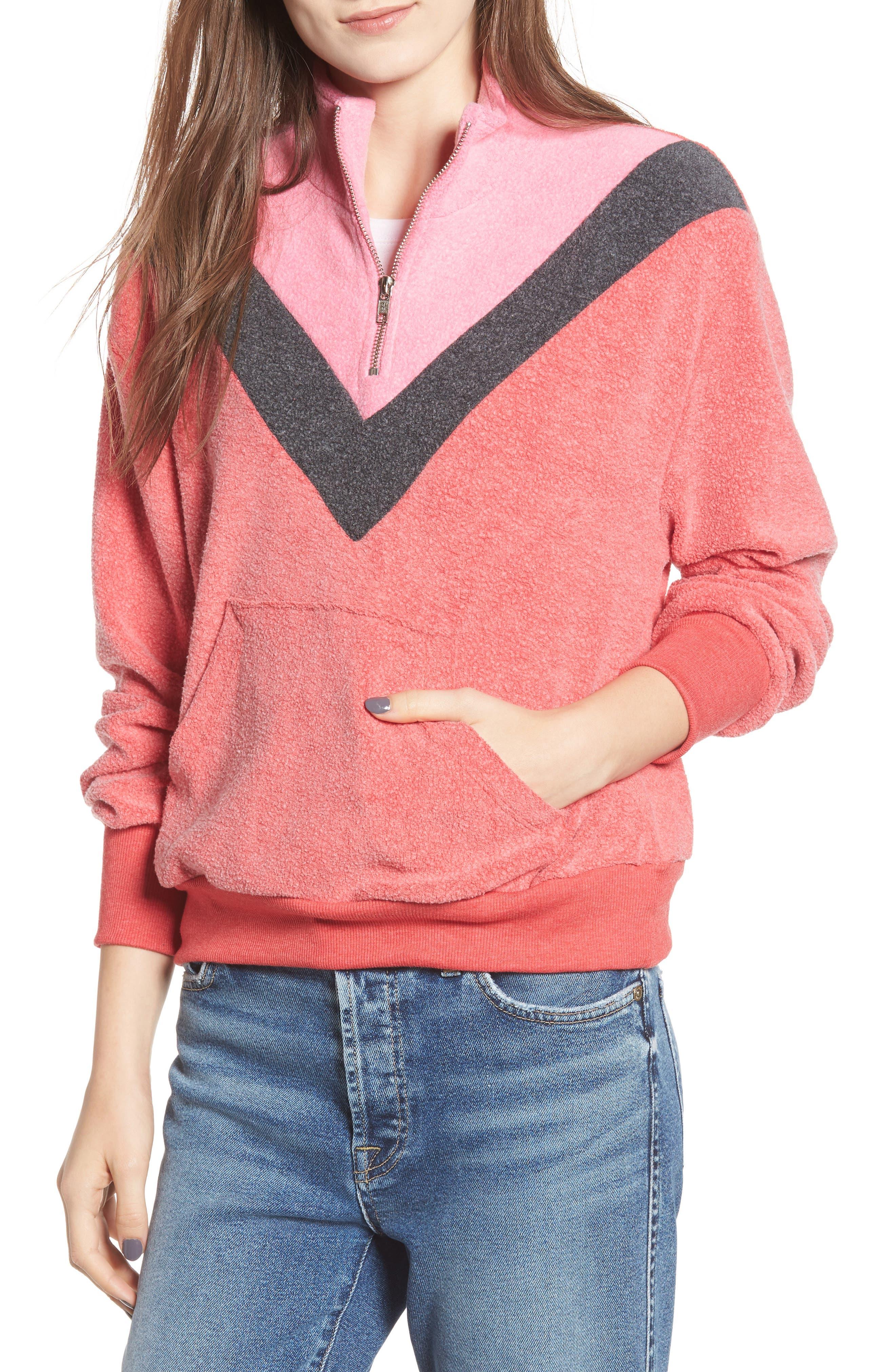 Soto Warm-Up Sweatshirt,                         Main,                         color, SCARLET
