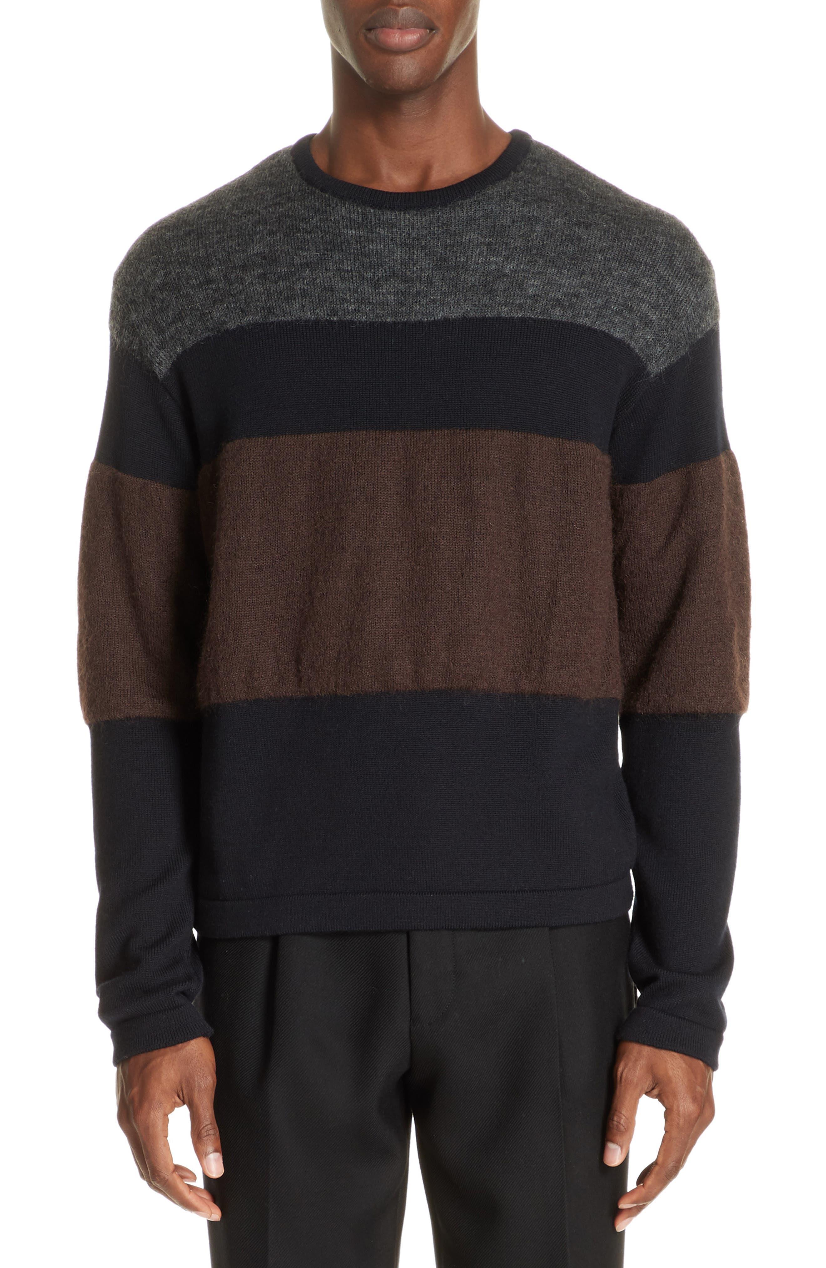 Stripe Sweater,                             Main thumbnail 1, color,                             NAVY