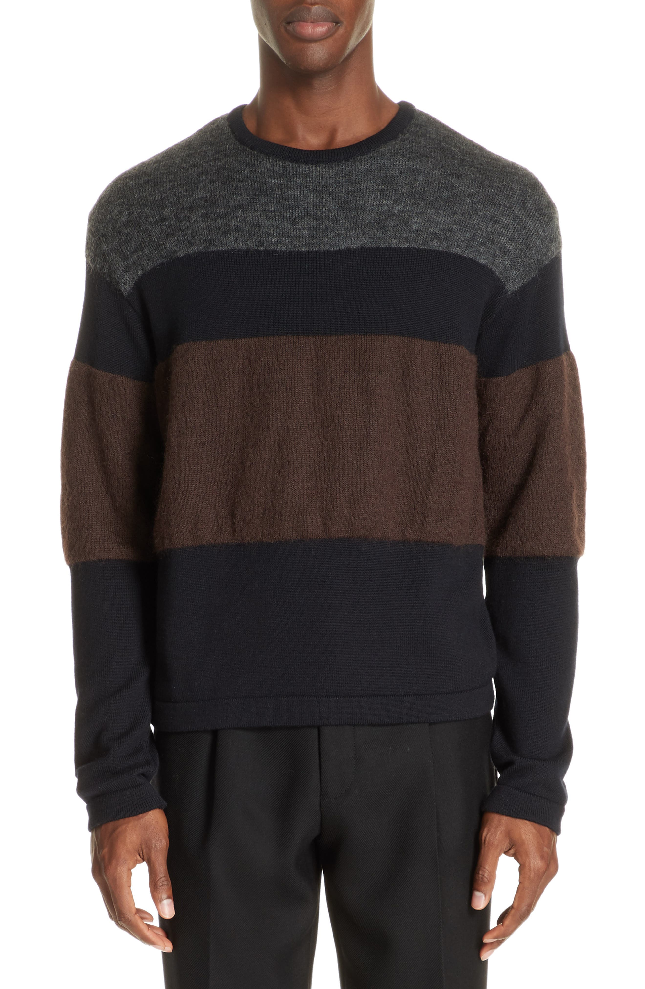 Stripe Sweater,                         Main,                         color, NAVY