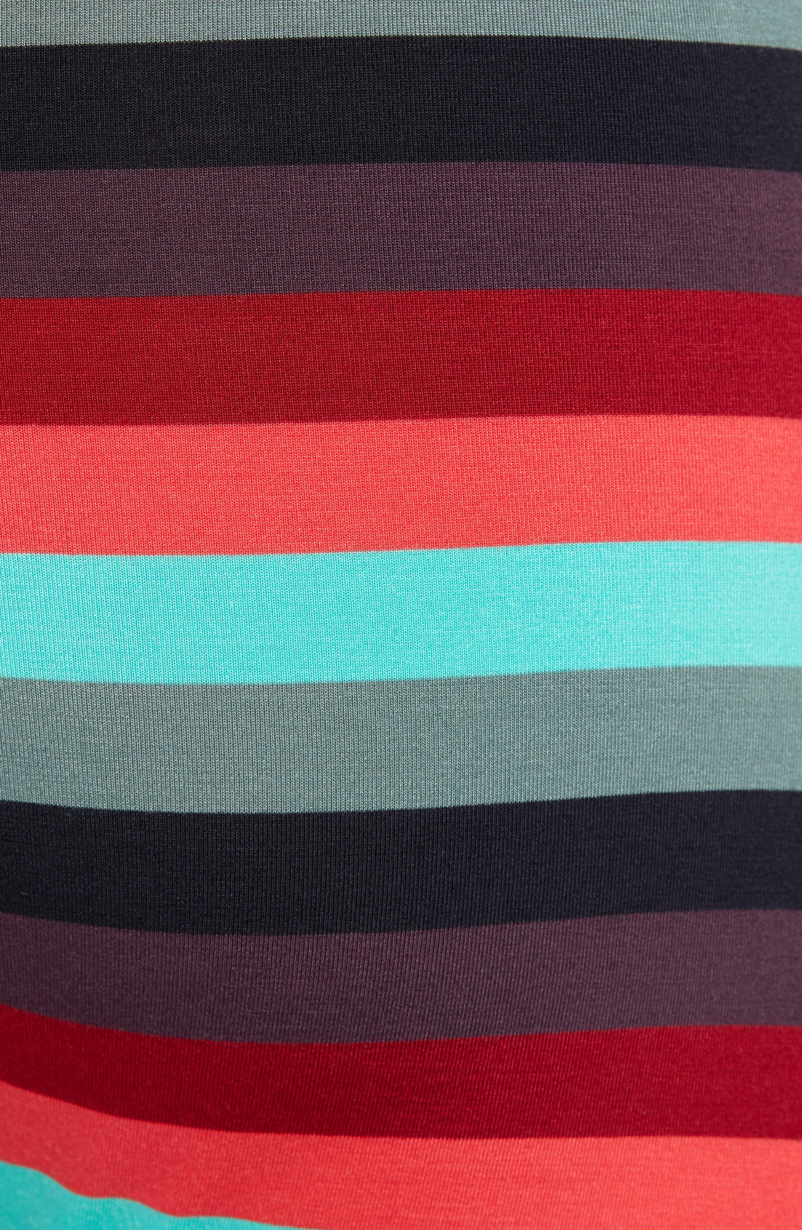 Ultra Cabana Stripe Stretch Boxer Briefs,                             Alternate thumbnail 5, color,                             BERRY CABANA STRIPE
