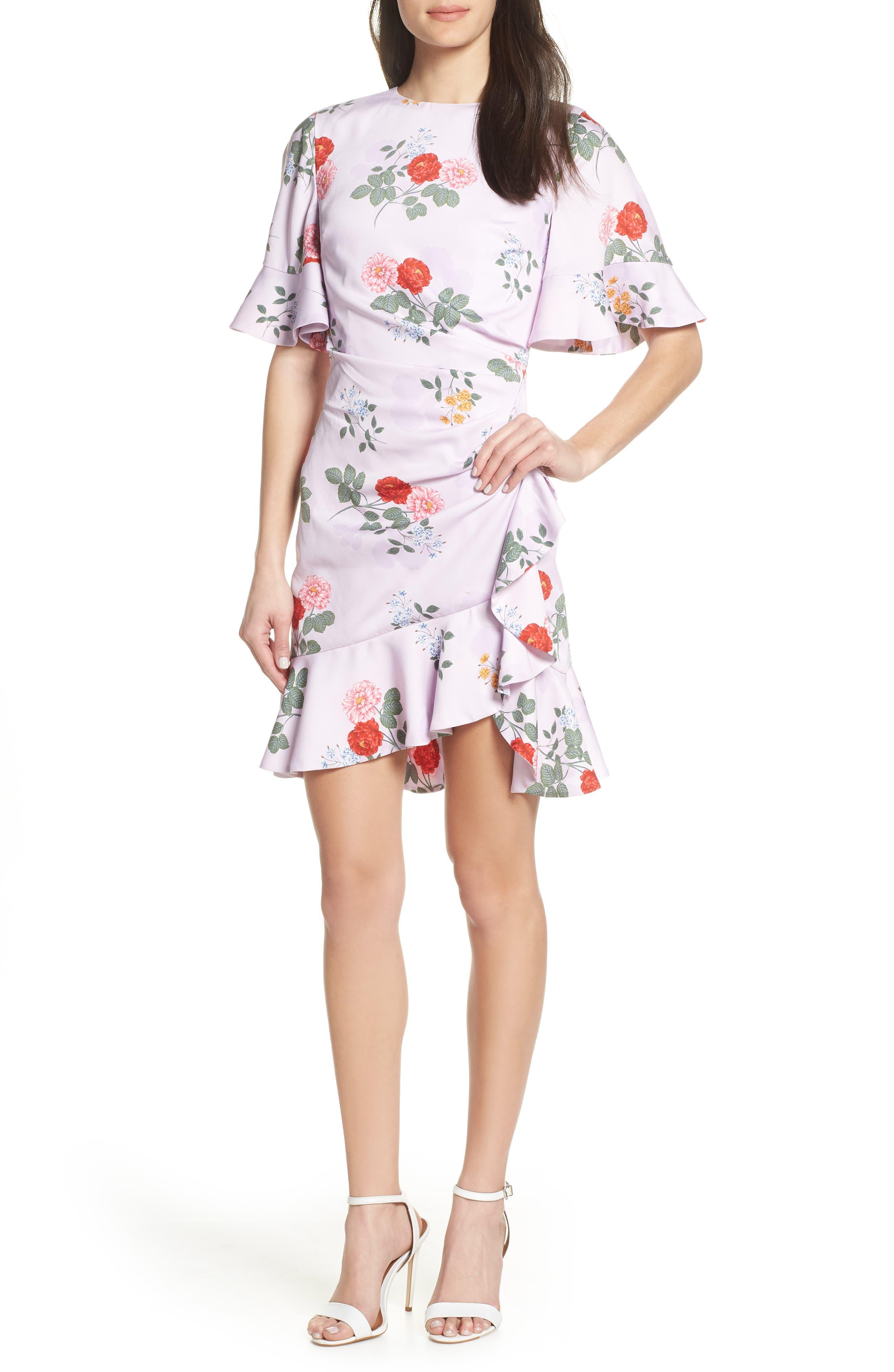 Keepsake The Label Pretty One Floral Dress, Purple