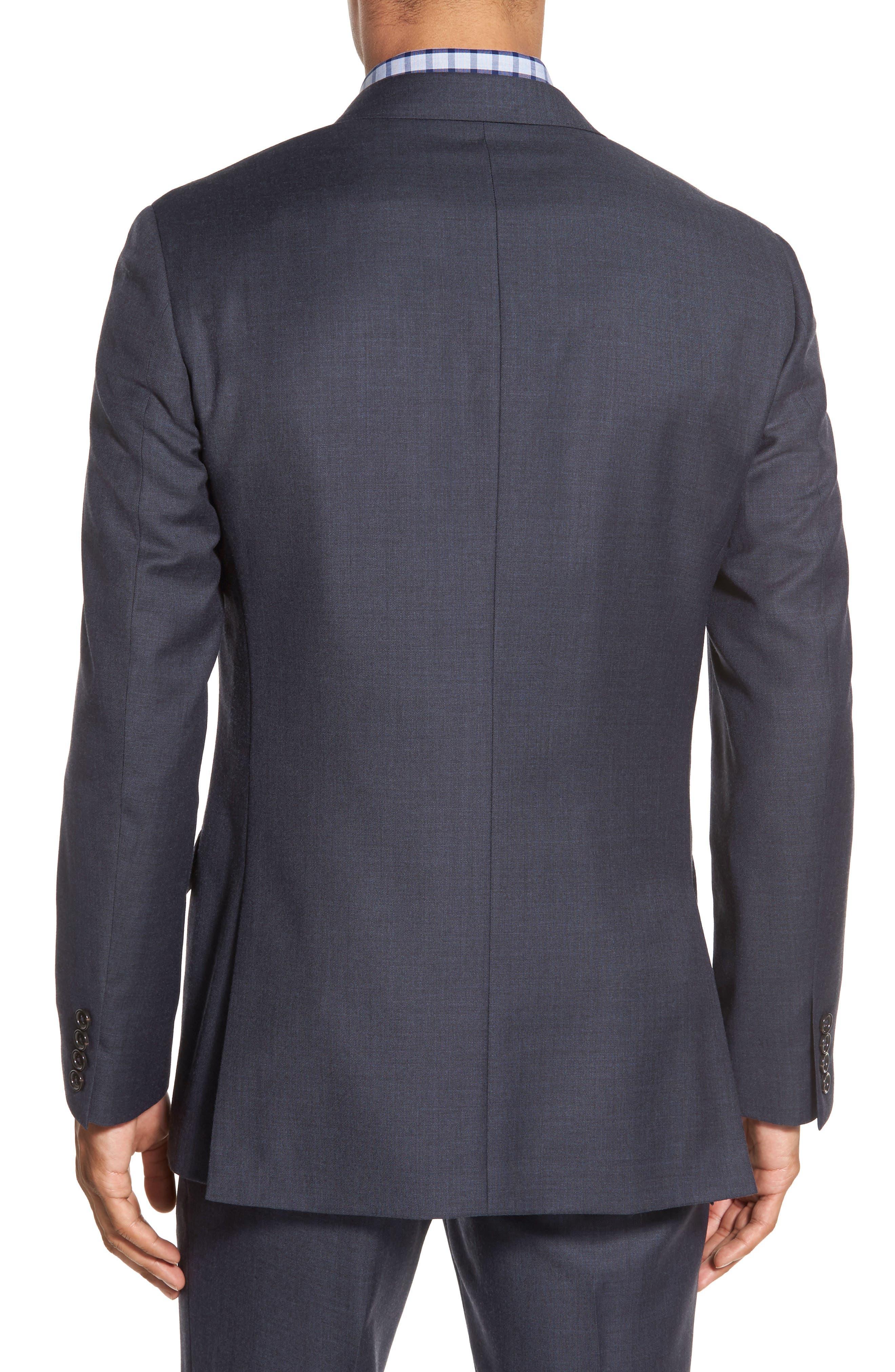 Ludlow Trim Fit Solid Wool Sport Coat,                             Alternate thumbnail 4, color,