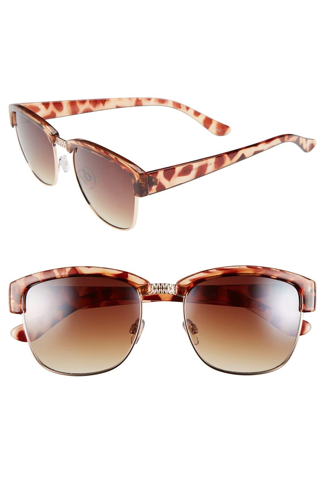 60mm Retro Sunglasses,                             Main thumbnail 1, color,                             200