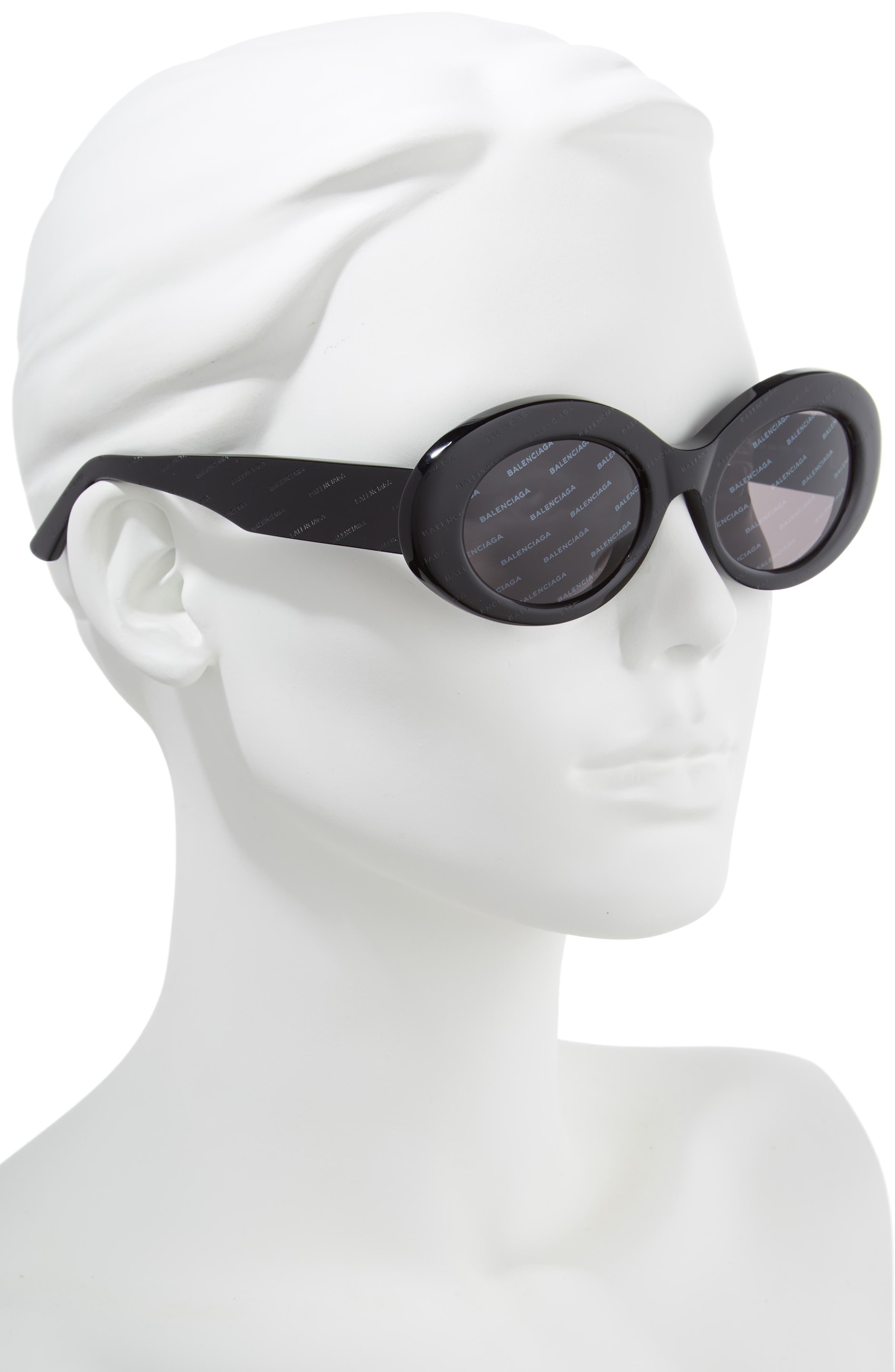 51mm Oval Sunglasses,                             Alternate thumbnail 2, color,                             001