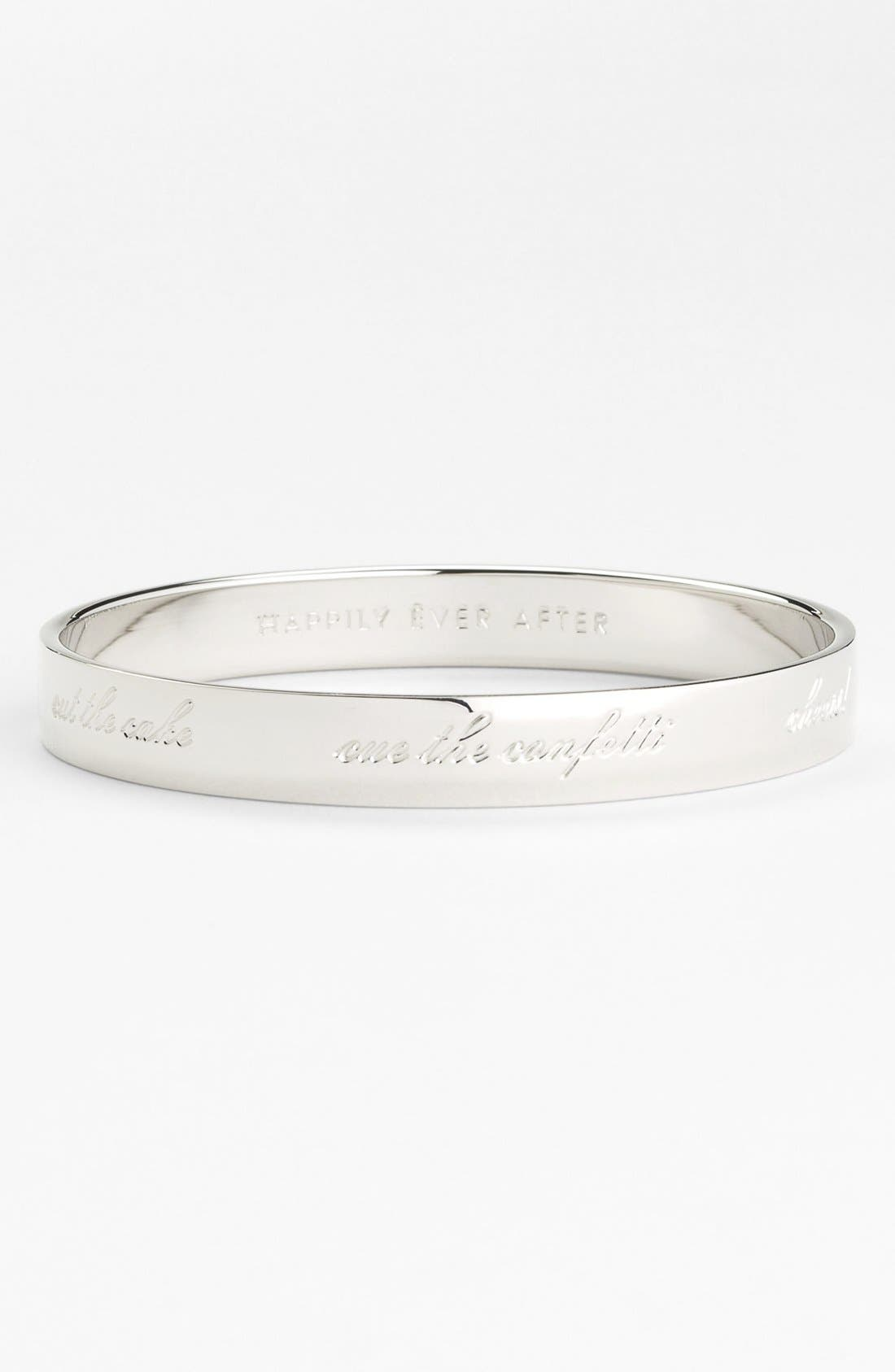 'idiom - happily ever after' bangle,                             Alternate thumbnail 2, color,                             BRIDE- SILVER