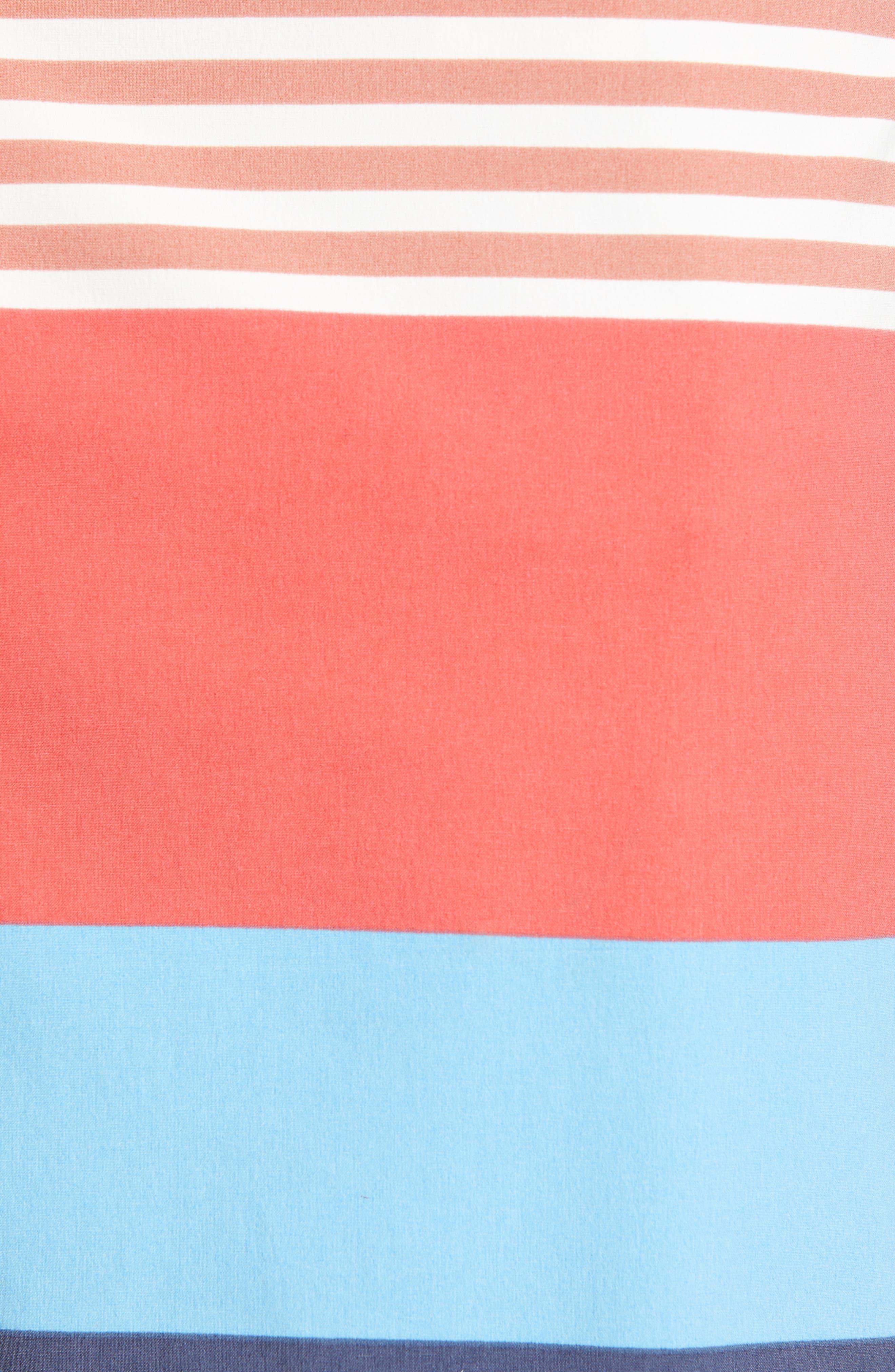 PATAGONIA,                             Wavefarer Board Shorts,                             Alternate thumbnail 5, color,                             FITZ STRIPE: SPICED CORAL