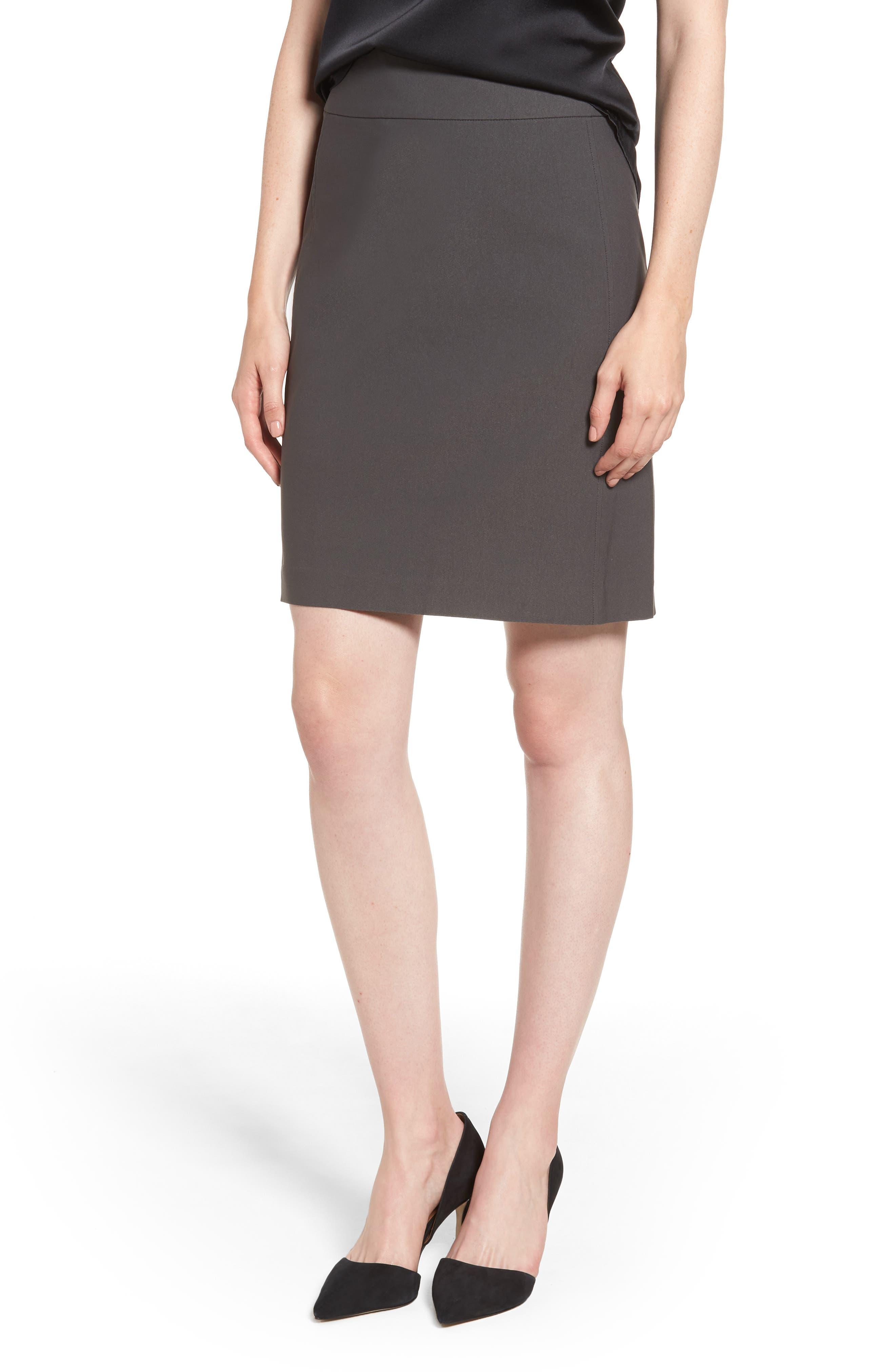 Nic+Zoe Wonderstretch Skirt, Grey