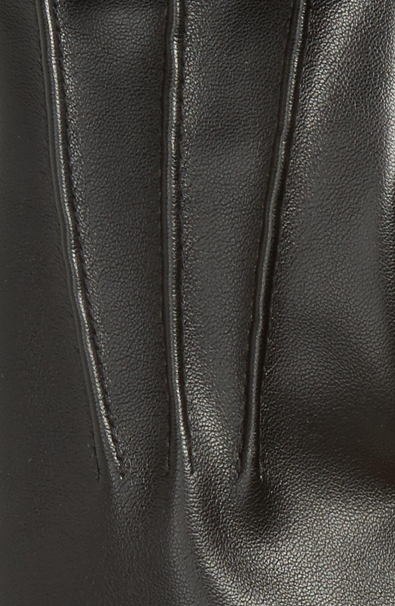 Faux Leather Gloves,                             Alternate thumbnail 2, color,                             001
