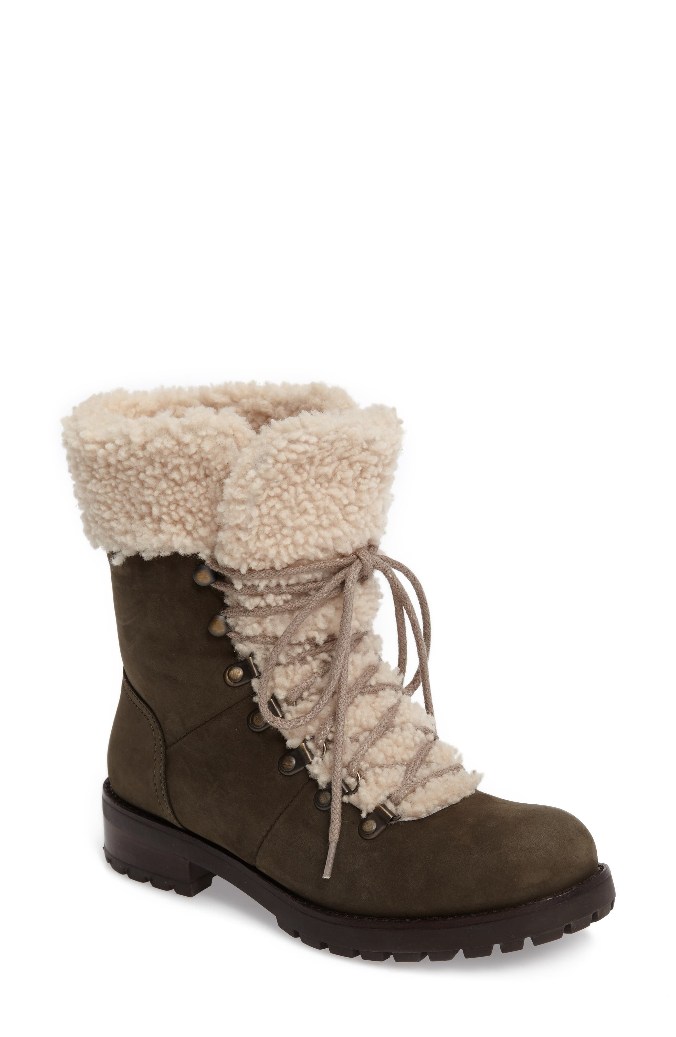 Fraser Genuine Shearling Water Resistant Boot,                             Main thumbnail 2, color,