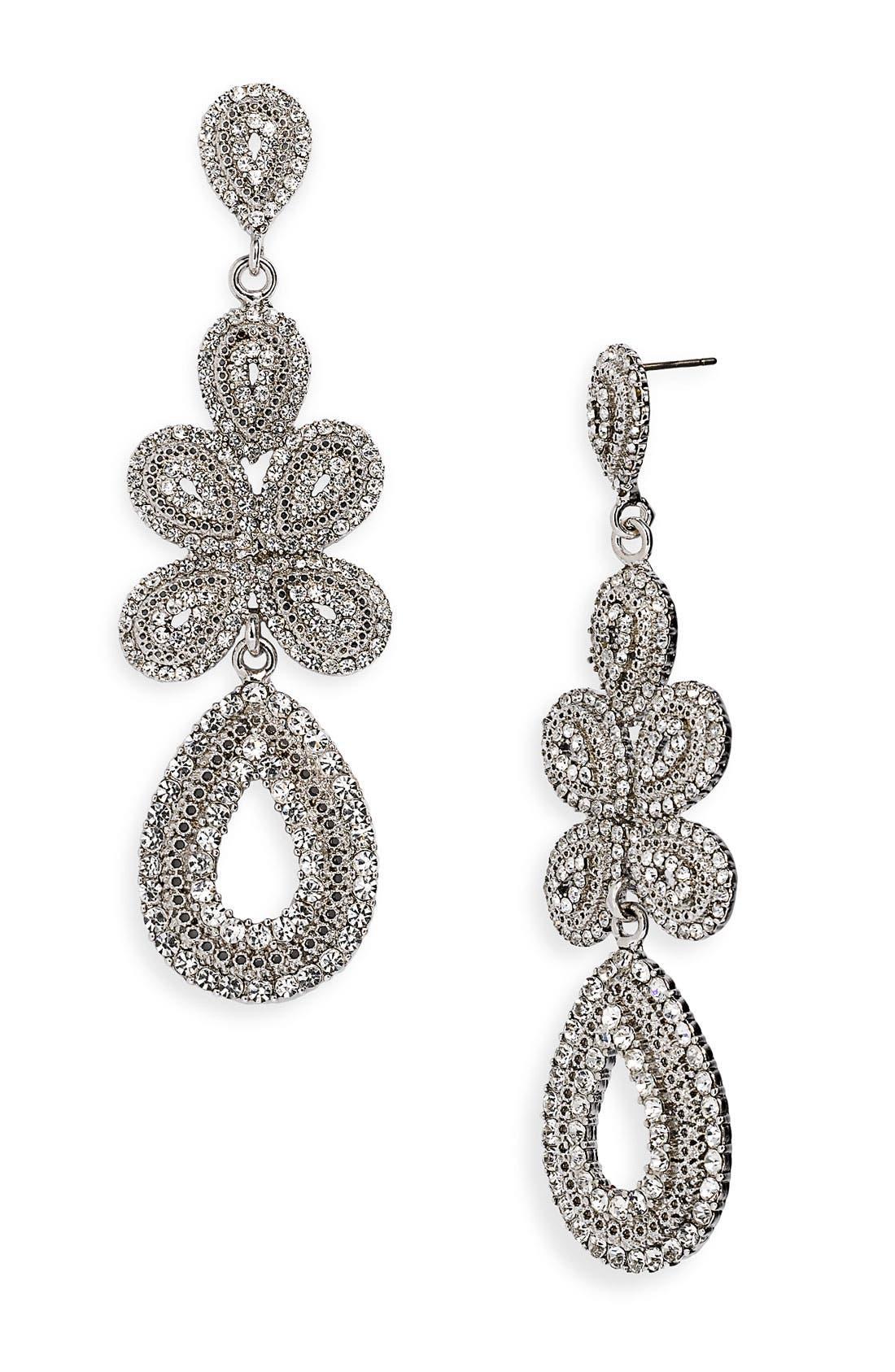 'Ornate' Linear Statement Earrings,                             Main thumbnail 4, color,