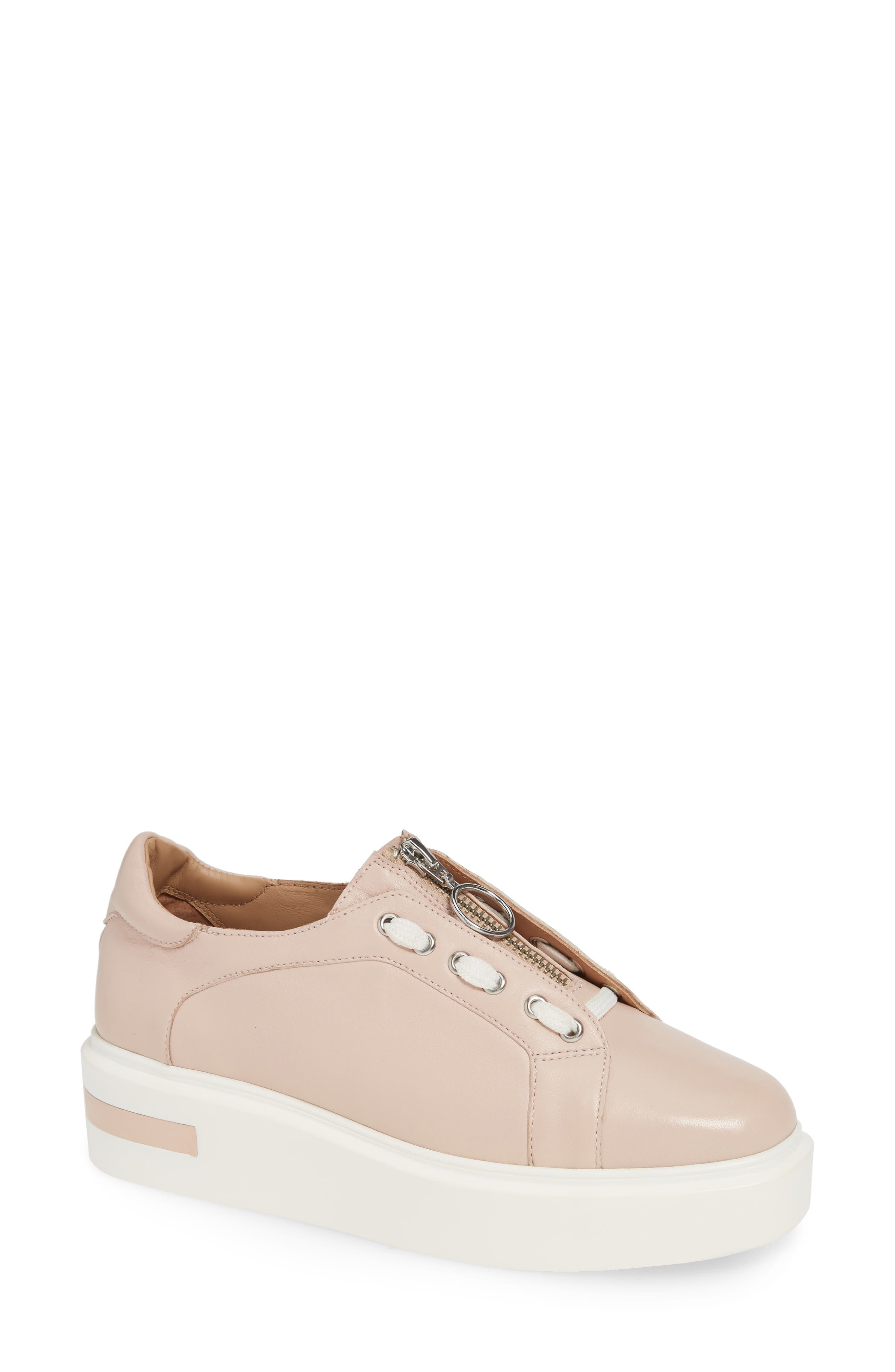 LINEA PAOLO,                             Killian Platform Sneaker,                             Main thumbnail 1, color,                             BLUSH LEATHER