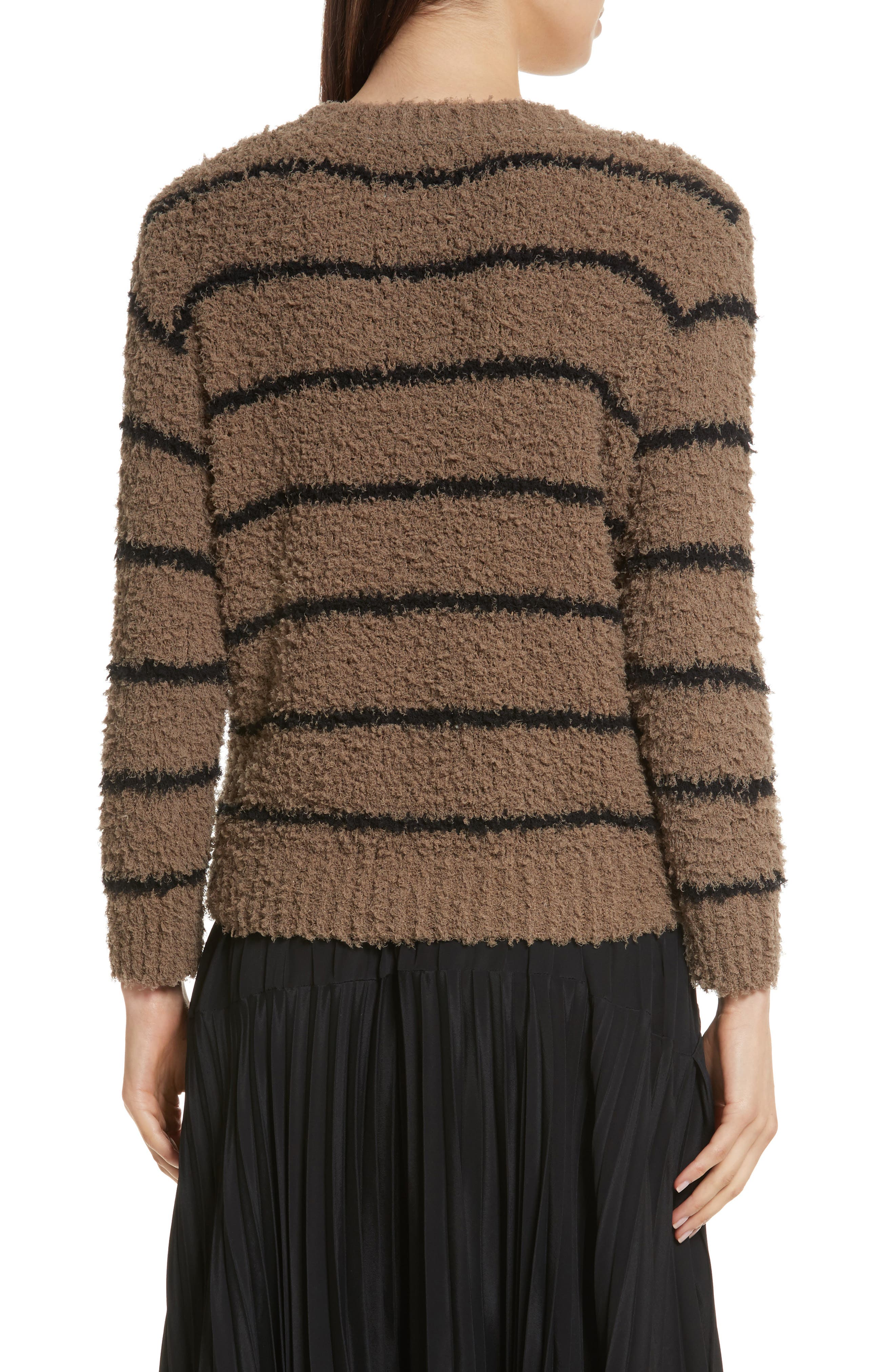 Fuzzy Stripe Sweater,                             Alternate thumbnail 2, color,                             313