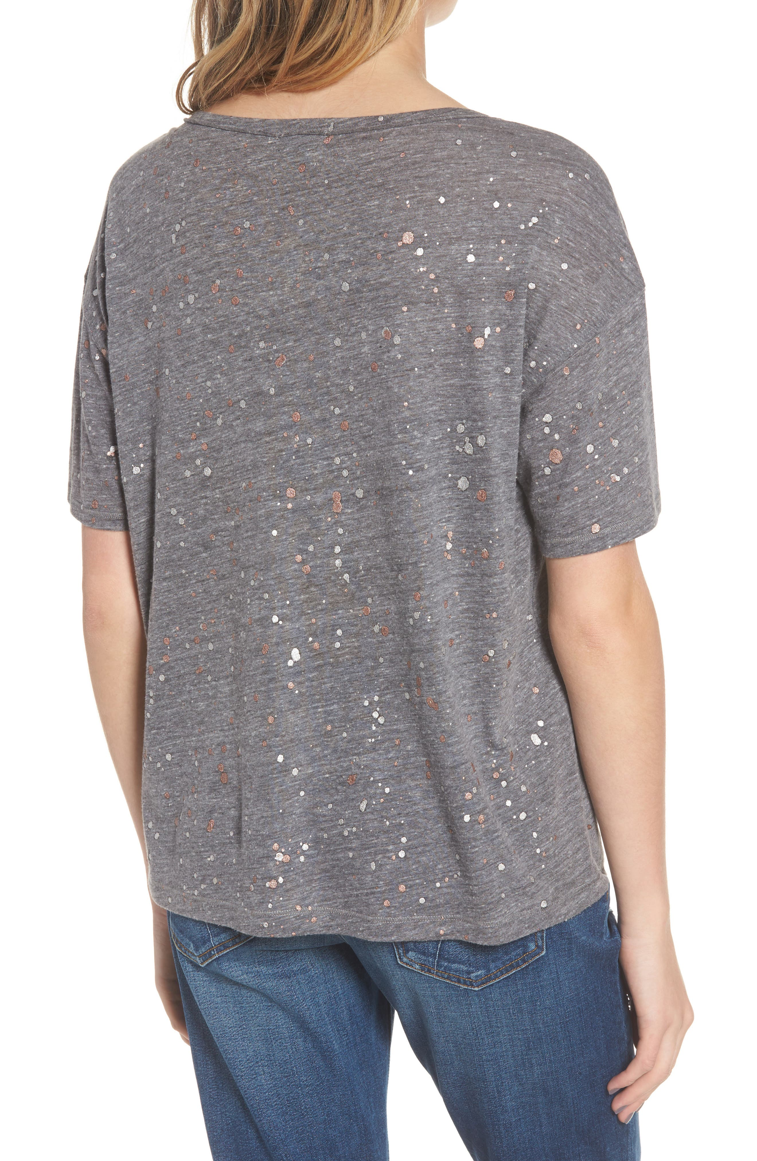 Metallic Splatter Tee,                             Alternate thumbnail 2, color,                             020