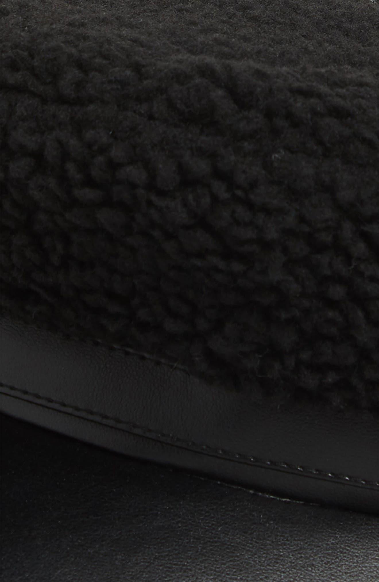 Fleece Cabbie Cap,                             Alternate thumbnail 2, color,                             BLACK COMBO