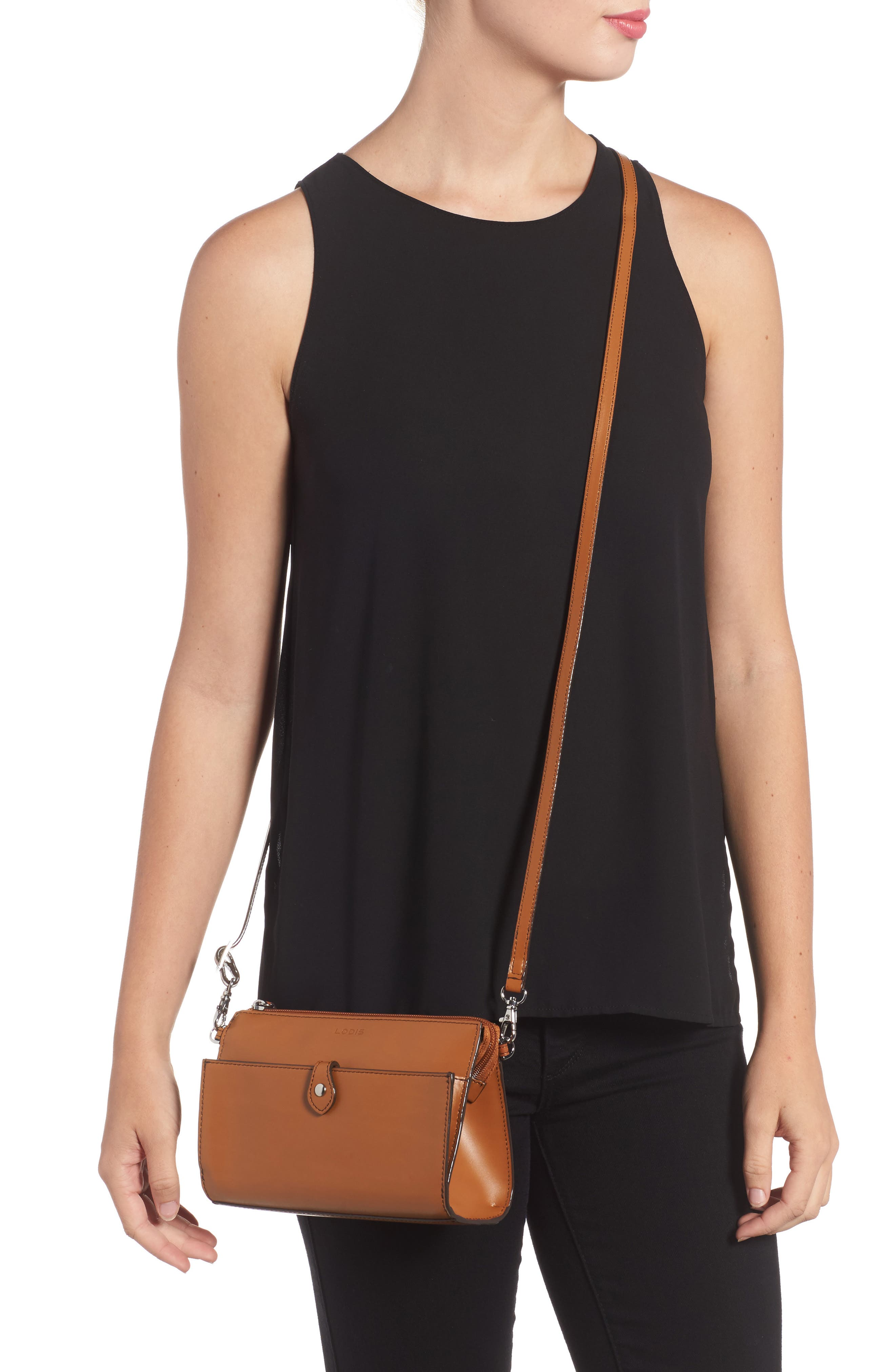 Audrey Under Lock & Key Vicky Convertible Leather Crossbody Bag,                             Alternate thumbnail 2, color,                             TOFFEE
