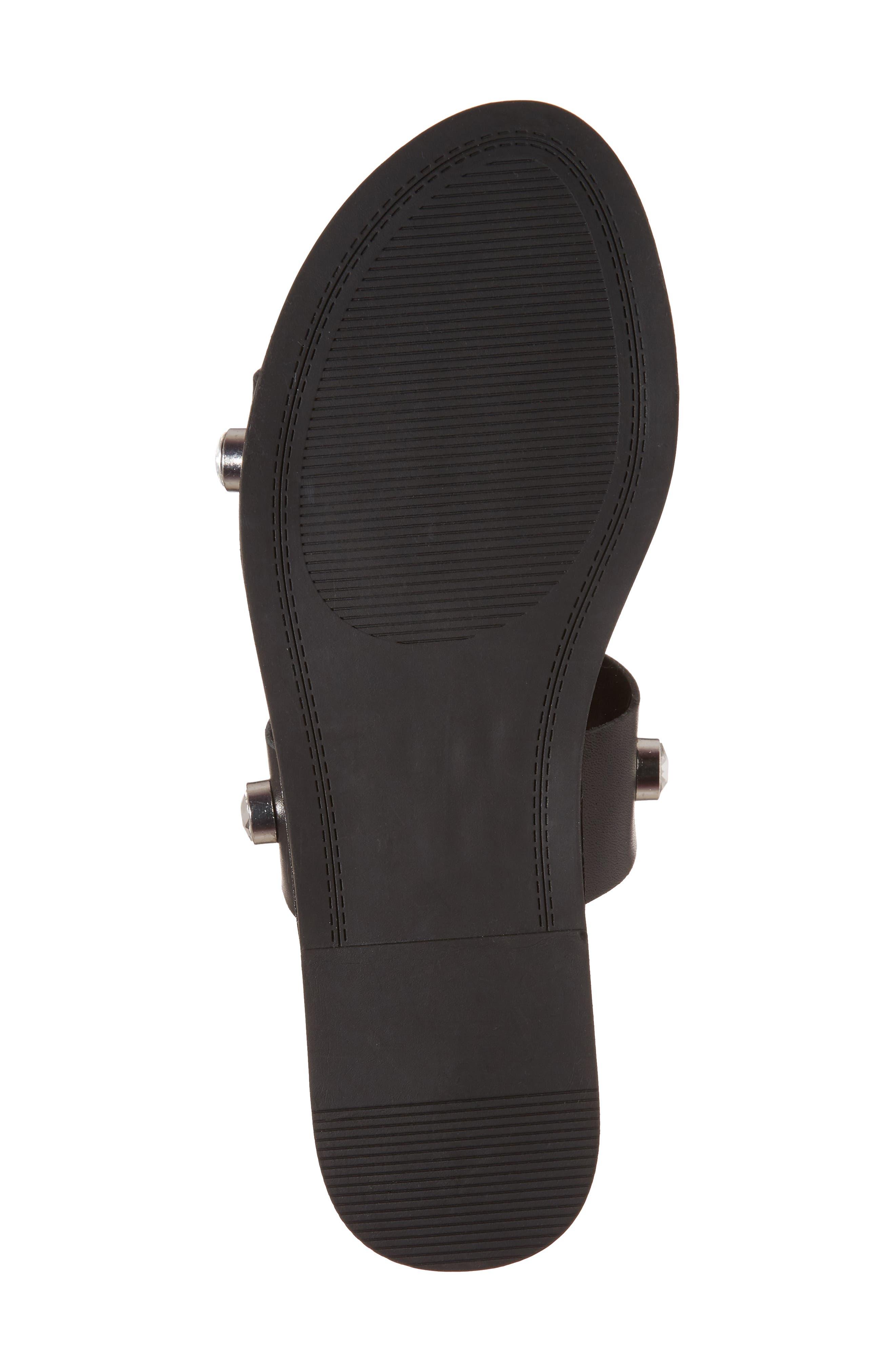 Jessy Embellished Slide Sandal,                             Alternate thumbnail 6, color,                             001