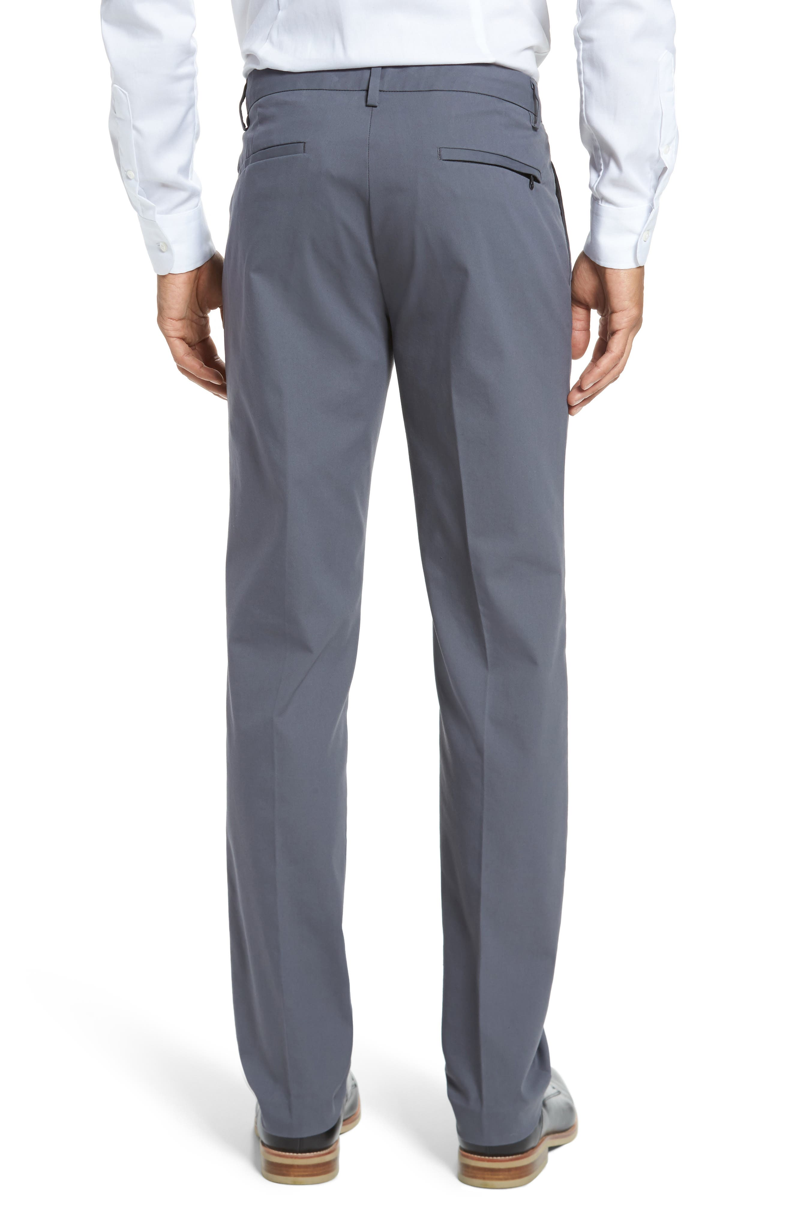 Slim Fit Tech Chinos,                             Alternate thumbnail 2, color,                             THUNDERCLOUD