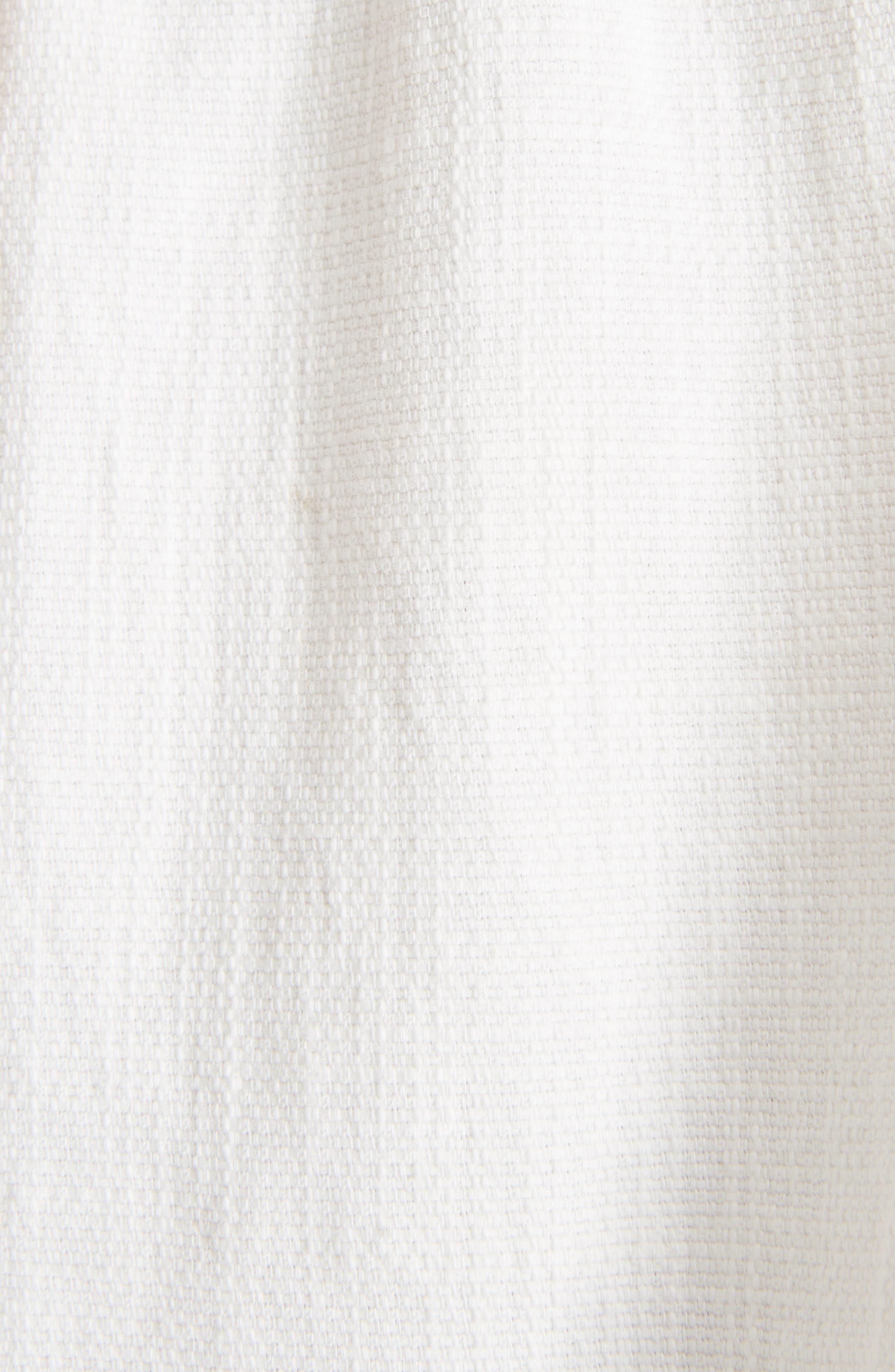 Wigstone Scallop Neck Cotton Top,                             Alternate thumbnail 5, color,                             100