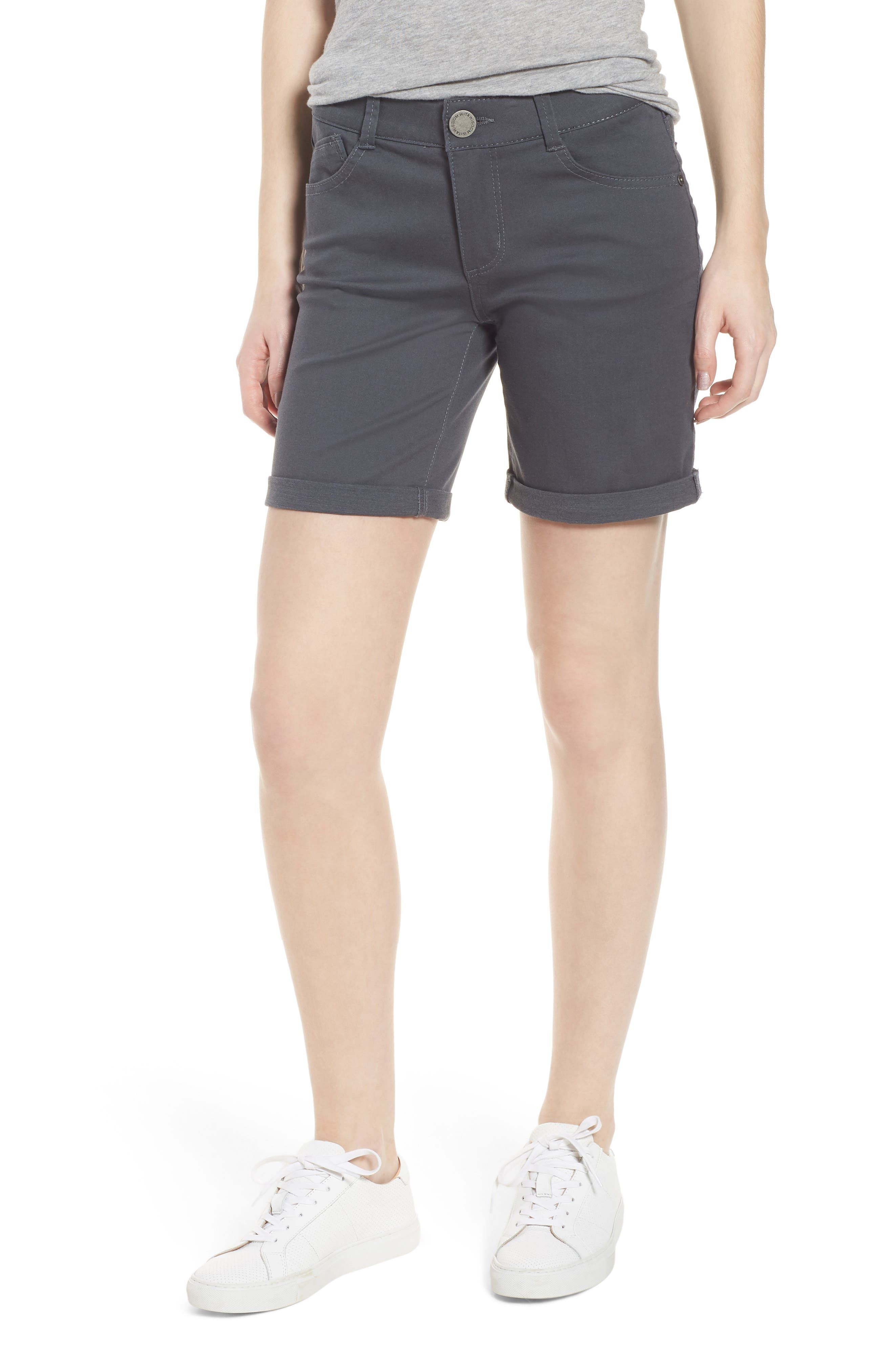 Ab-Solution Stretch Cotton Shorts,                             Main thumbnail 1, color,                             050