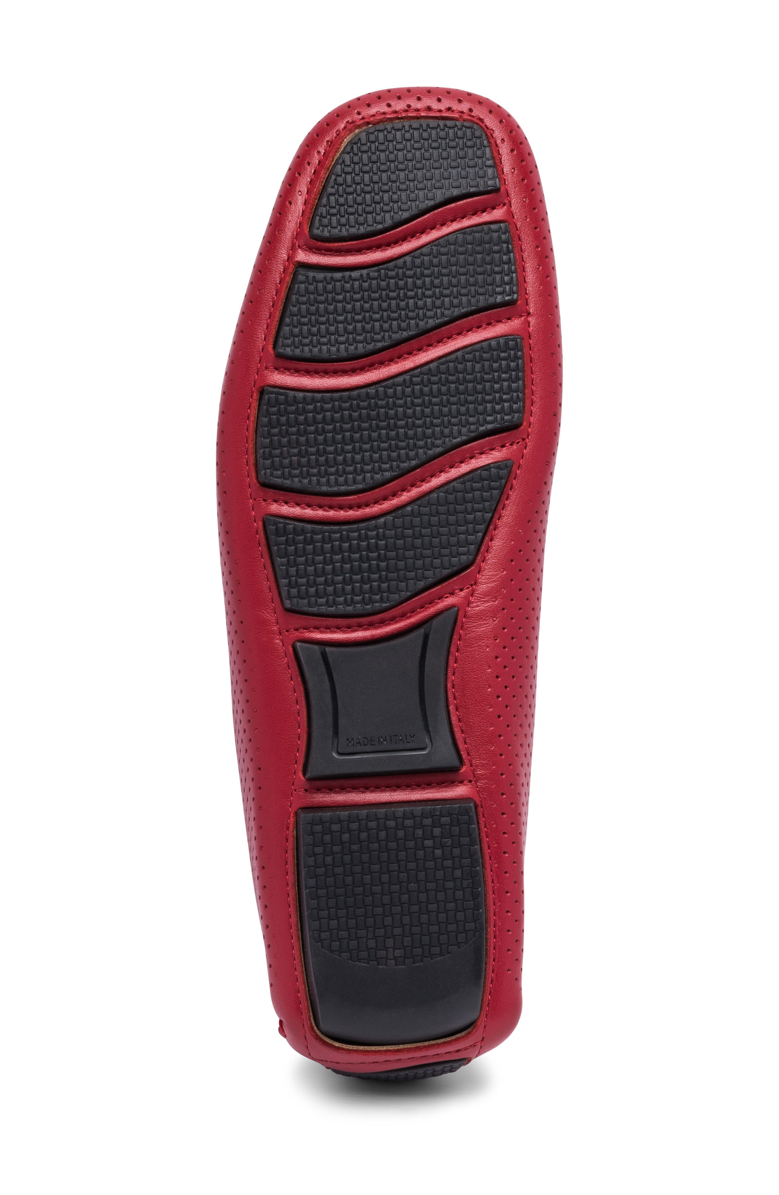 Sardegna Driving Shoe,                             Alternate thumbnail 6, color,                             RED LEATHER