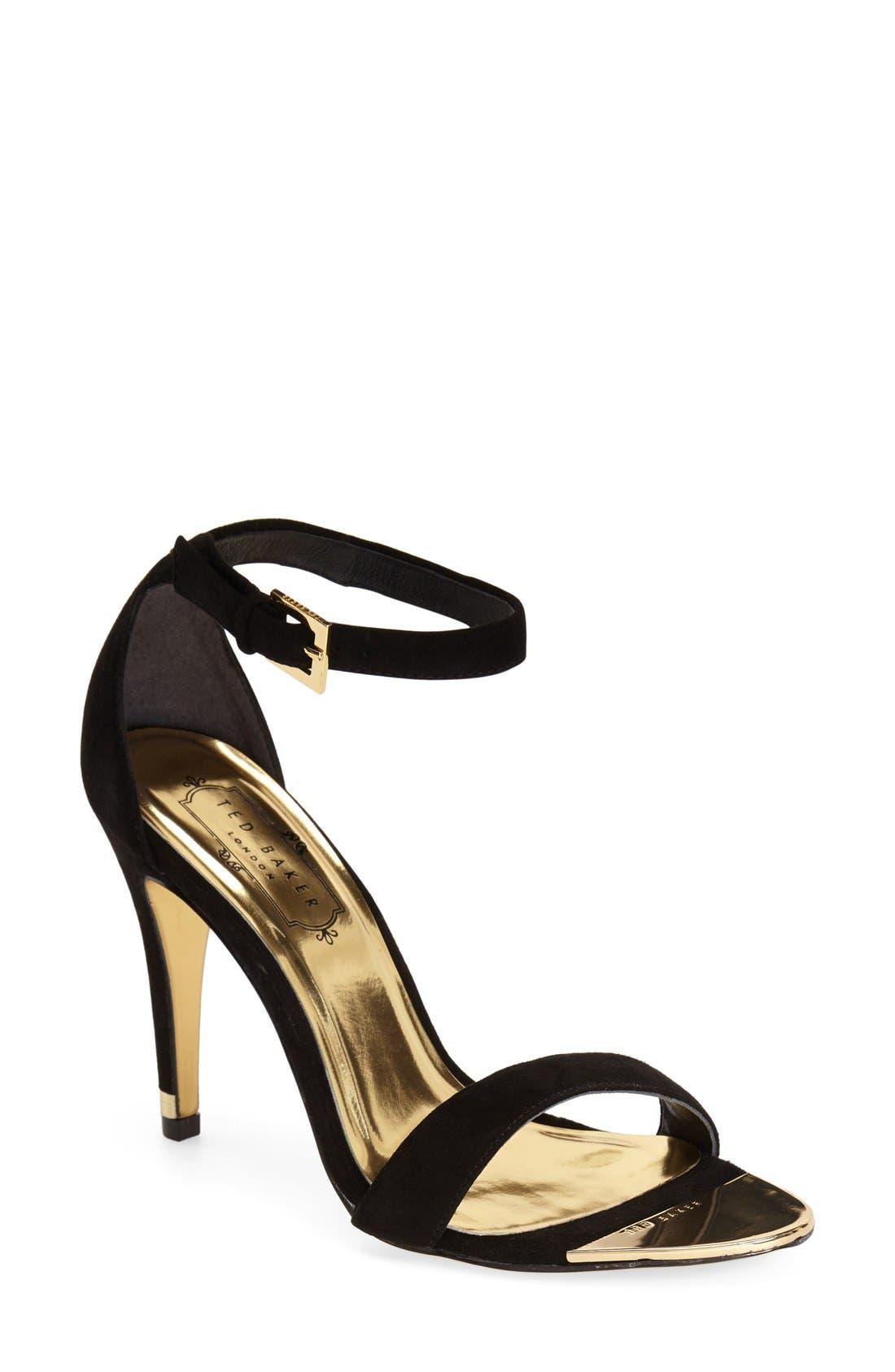 'Juliennas' Leather Sandal,                         Main,                         color, 010