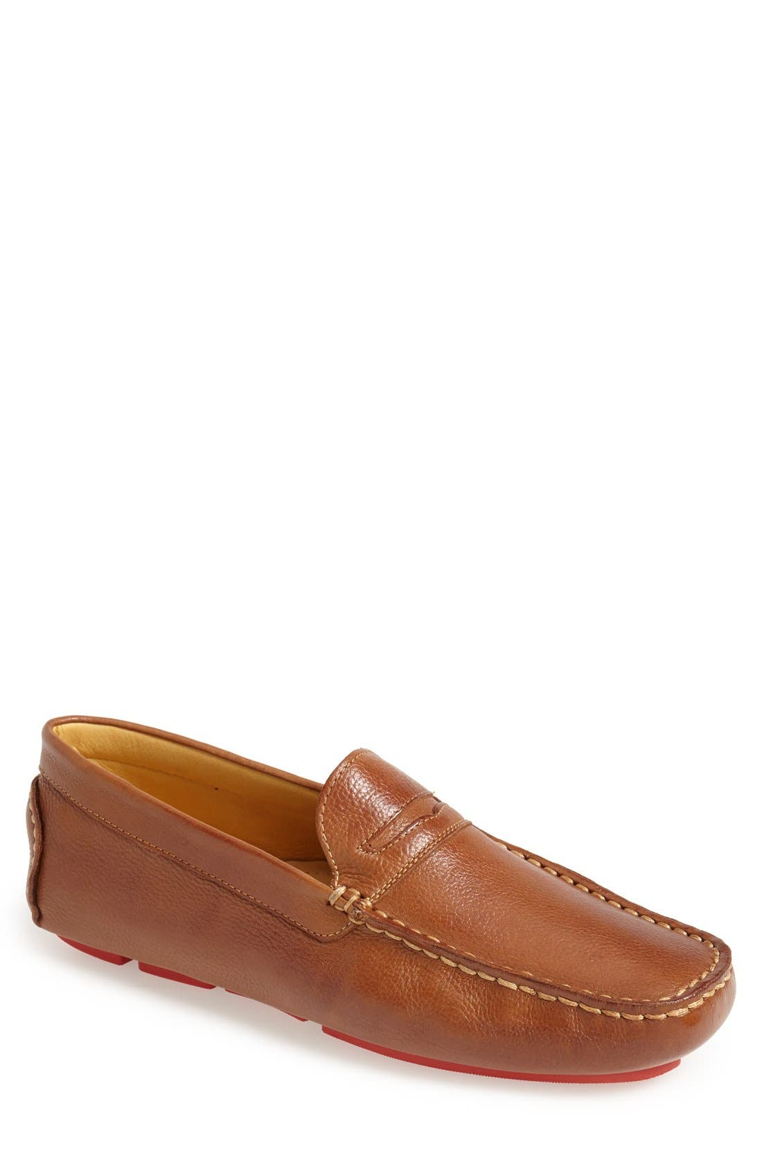 'Santee' Driving Shoe,                             Main thumbnail 1, color,                             COGNAC