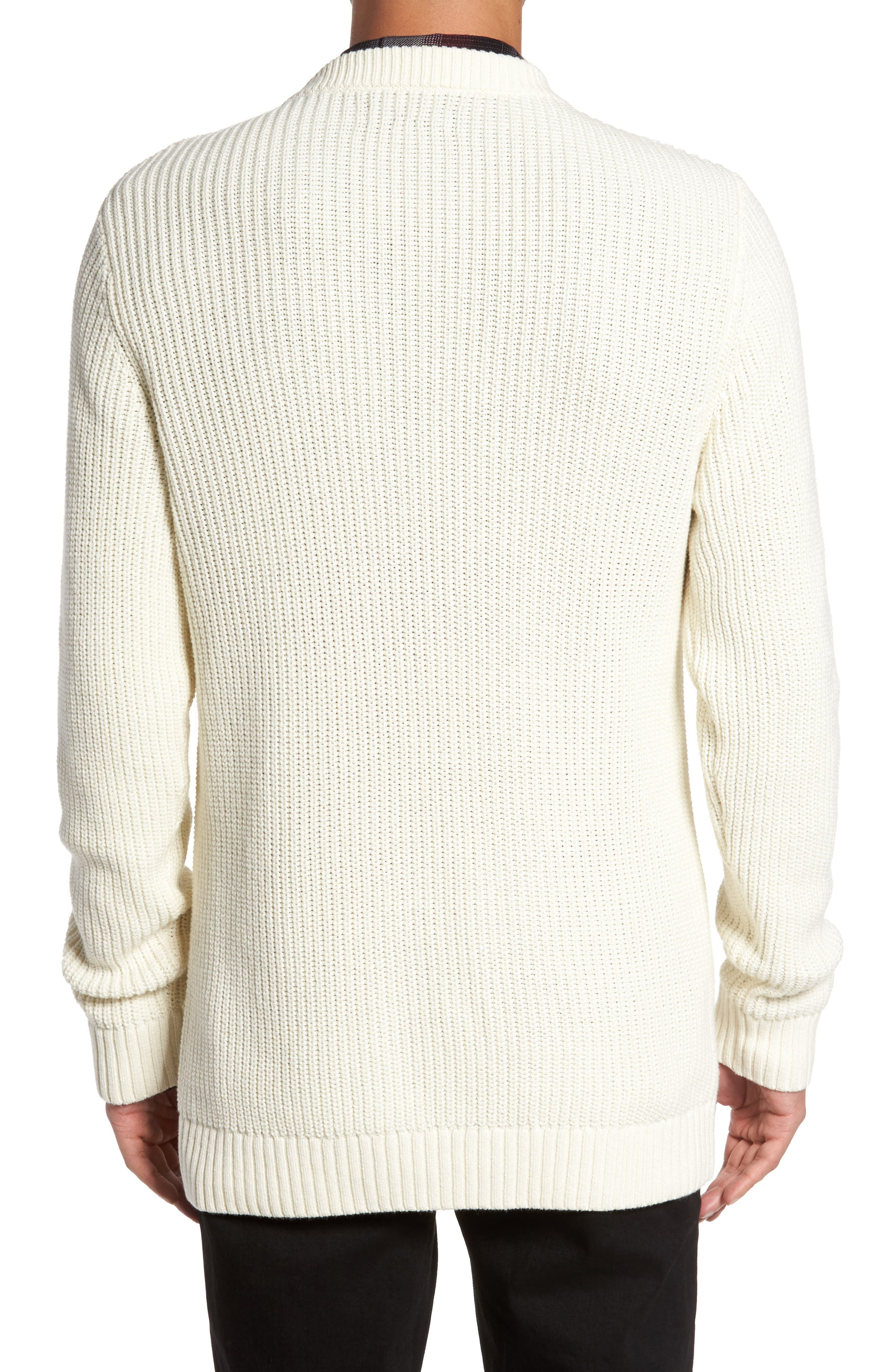Shaker Stitch Sweater,                             Alternate thumbnail 4, color,