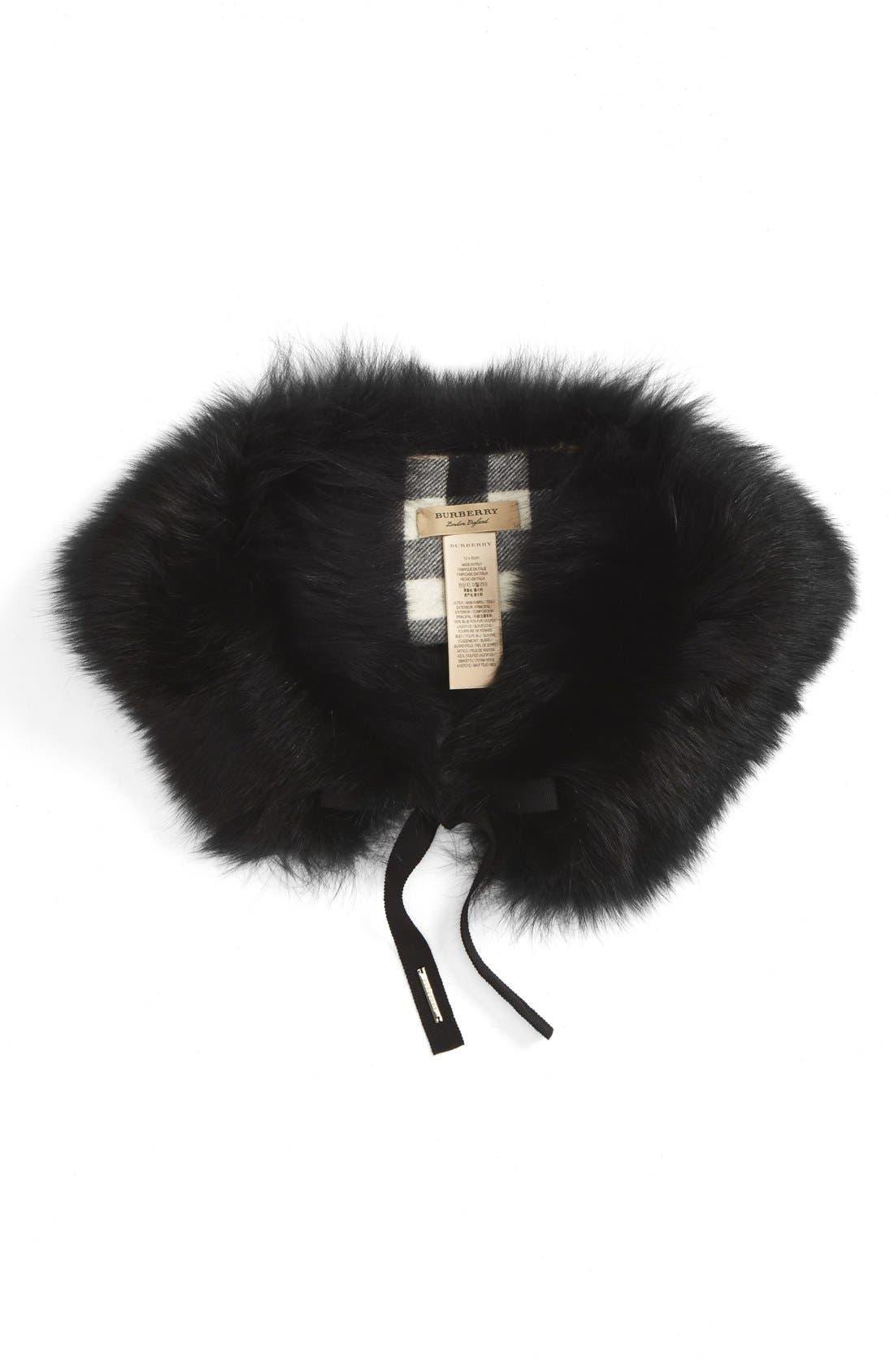 Genuine Fox Fur Collar,                             Alternate thumbnail 11, color,