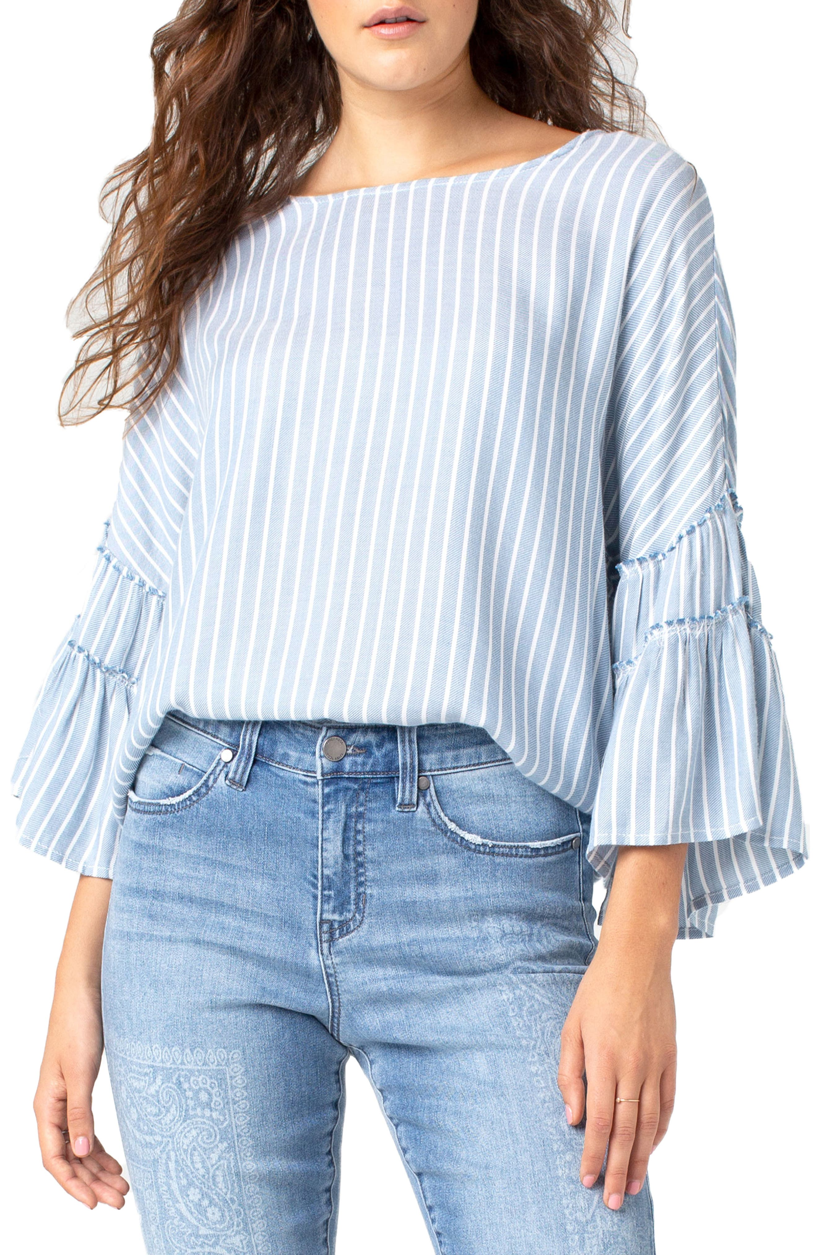 Ruffle Sleeve Top by Liverpool