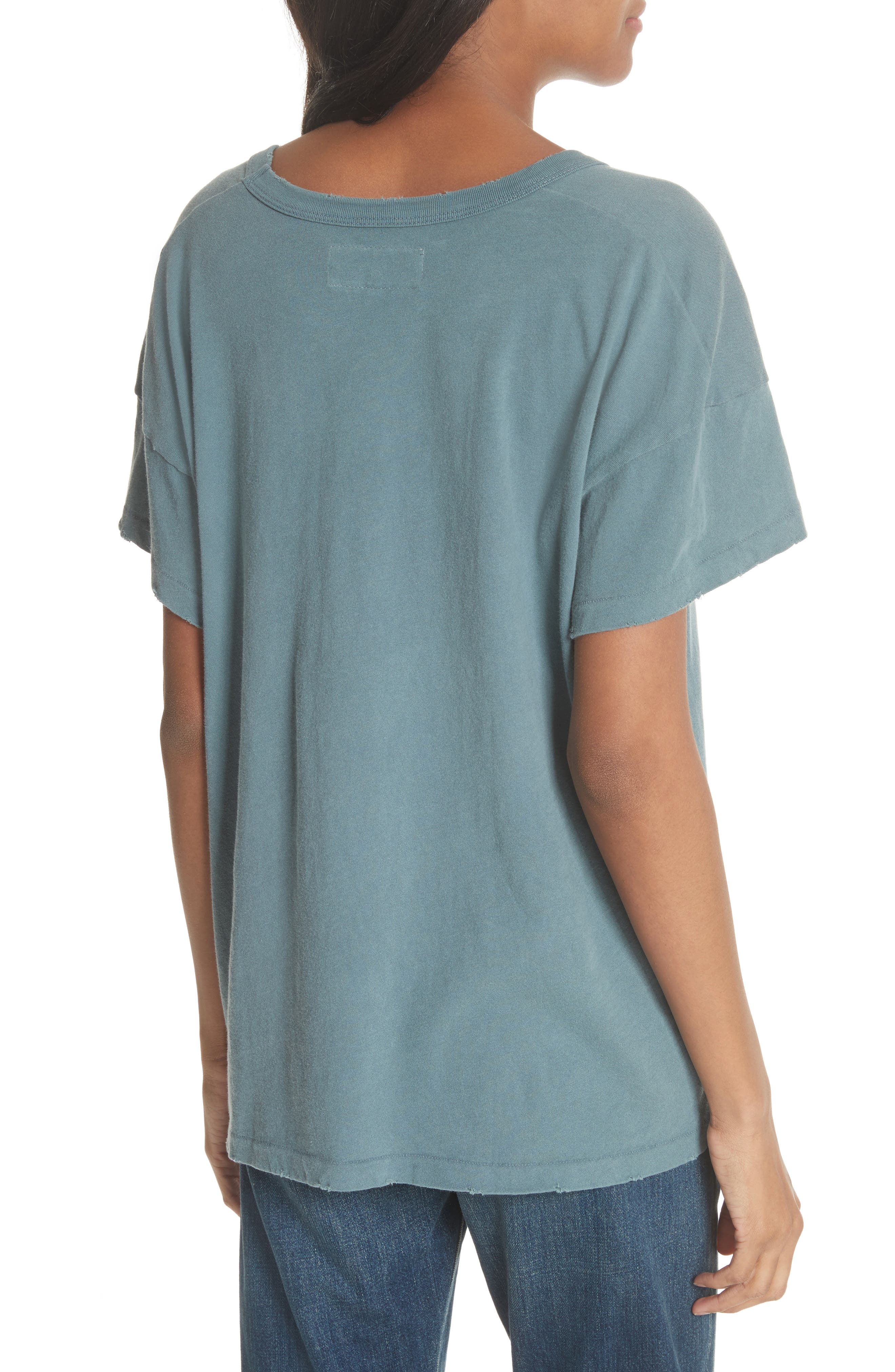 U-Neck Tee,                             Alternate thumbnail 2, color,                             MOTTLED BLUE