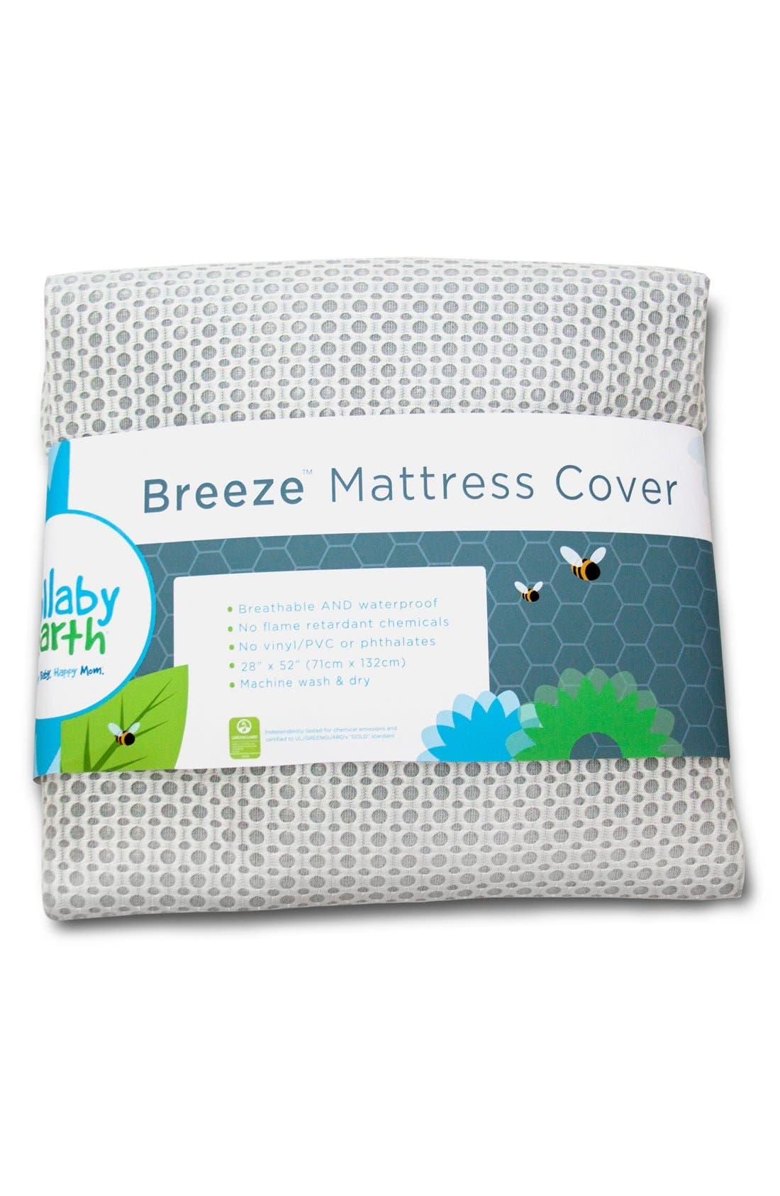 'Breeze' Waterproof Crib Mattress Cover,                             Main thumbnail 2, color,