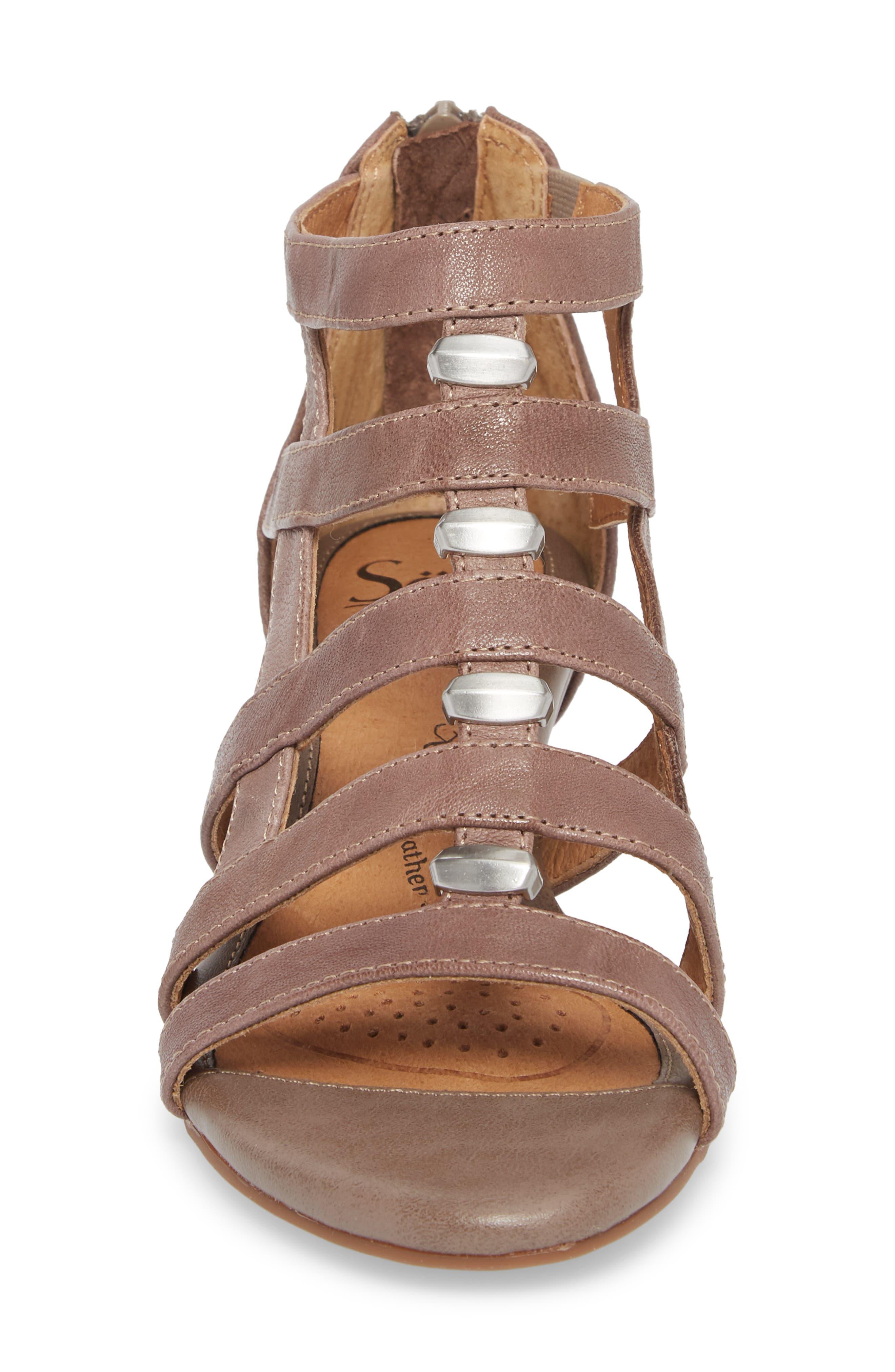SÖFFT,                             Rio Gladiator Wedge Sandal,                             Alternate thumbnail 4, color,                             030