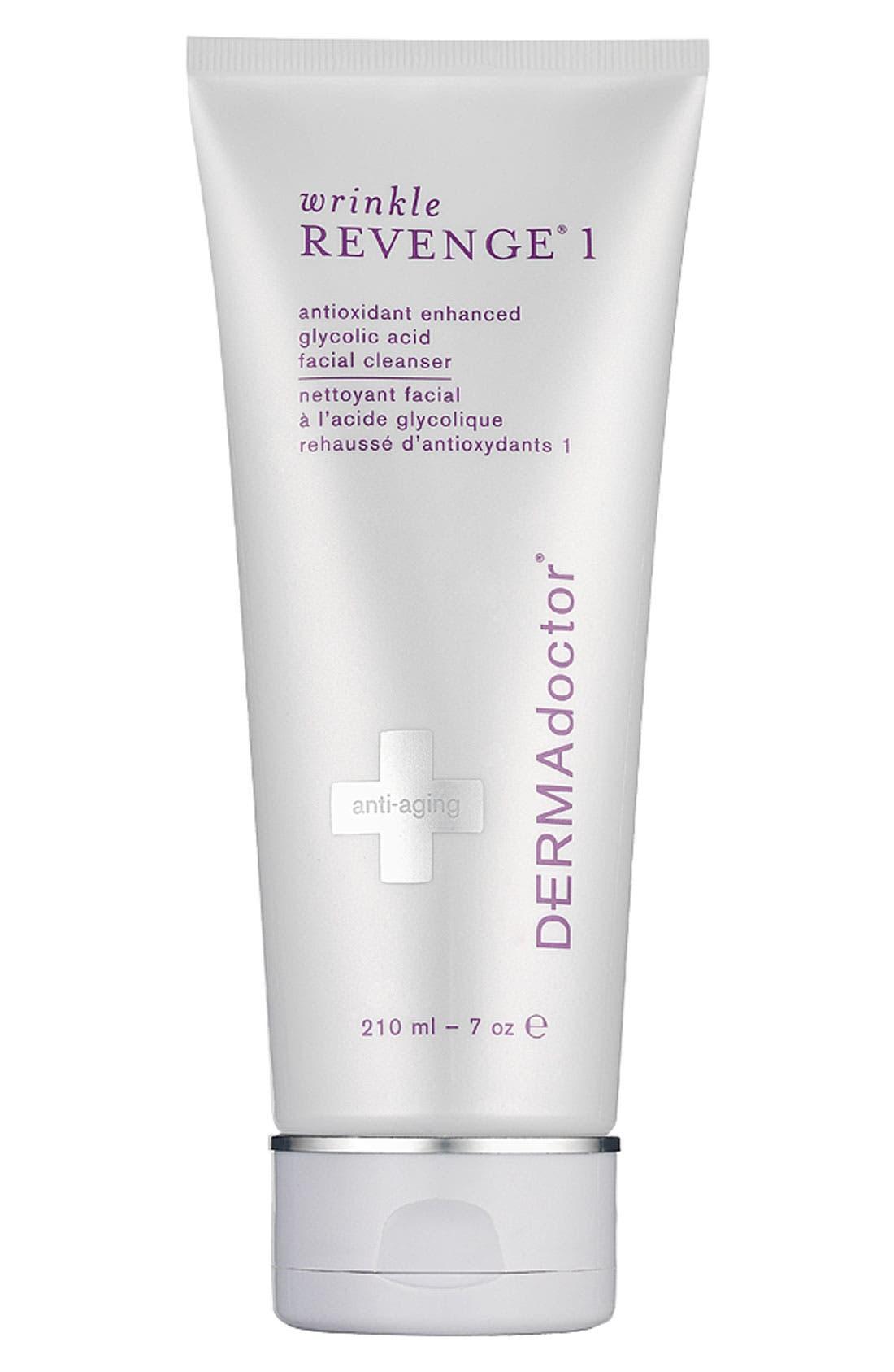 DERMADOCTOR<SUP>®</SUP>,                             'wrinkle REVENGE<sup>®</sup> 1' Antioxidant Enhanced Glycolic Acid Facial Cleanser,                             Main thumbnail 1, color,                             000