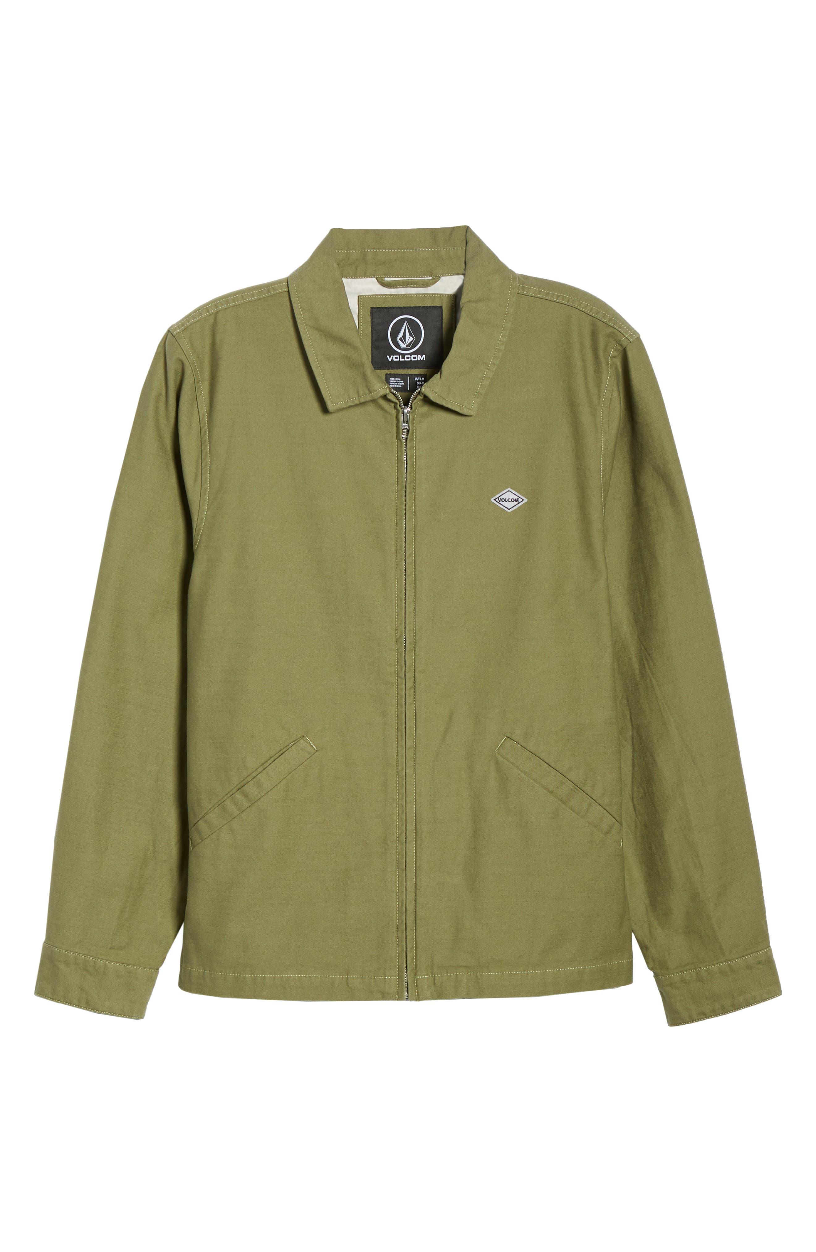 Burkey Jacket,                             Alternate thumbnail 6, color,                             VINE GREEN