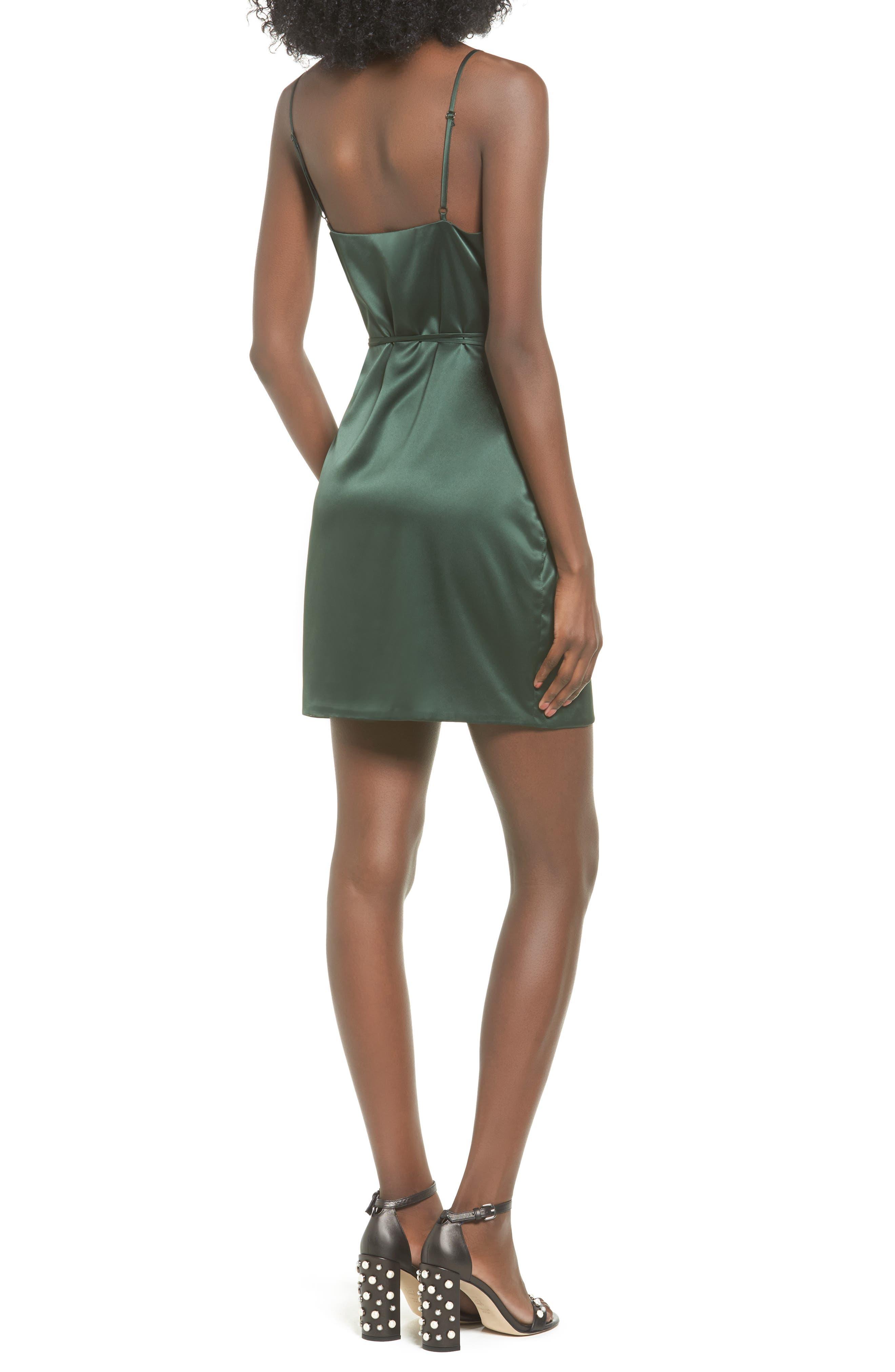 Nina Wrap Minidress,                             Alternate thumbnail 2, color,                             300