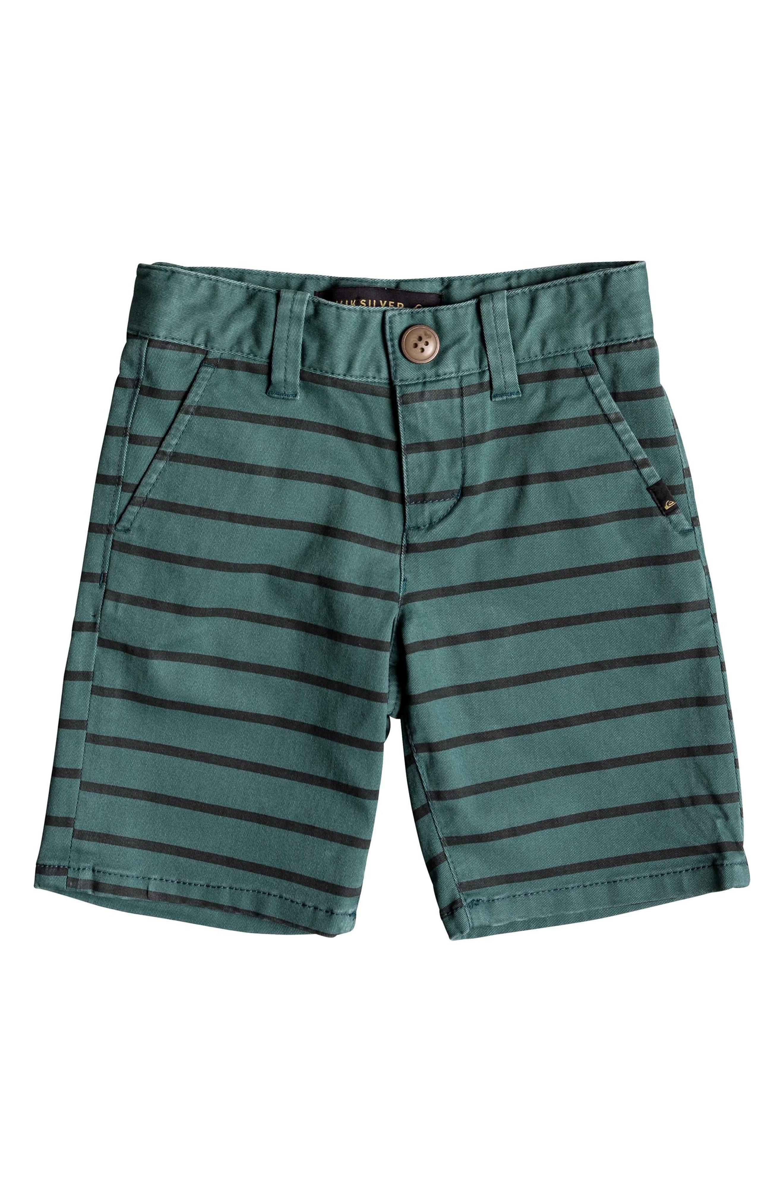 Waiku Stripe Shorts,                             Main thumbnail 1, color,                             MALLARD GREEN