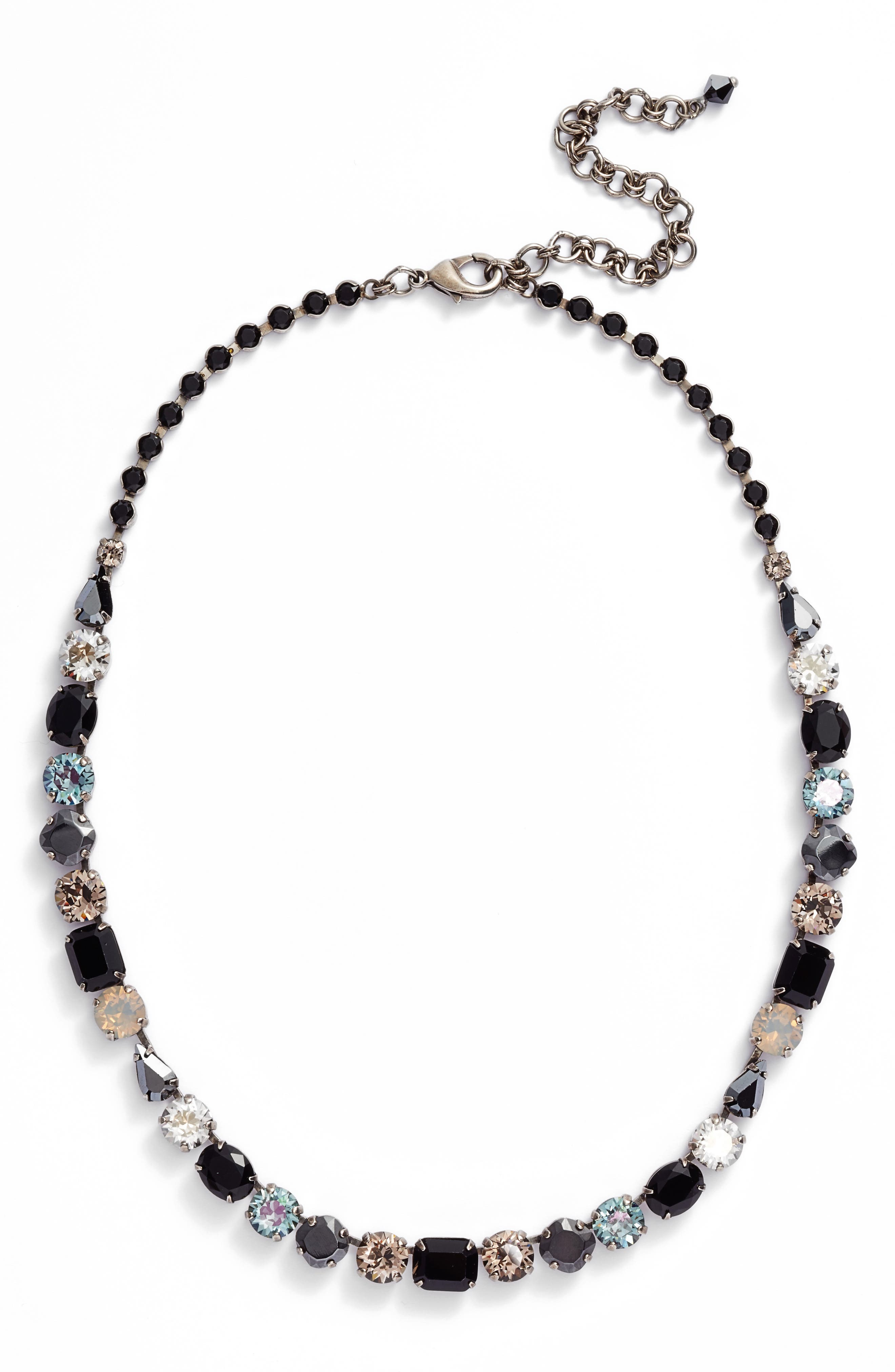 Tansy Line Crystal Necklace,                             Main thumbnail 1, color,                             001