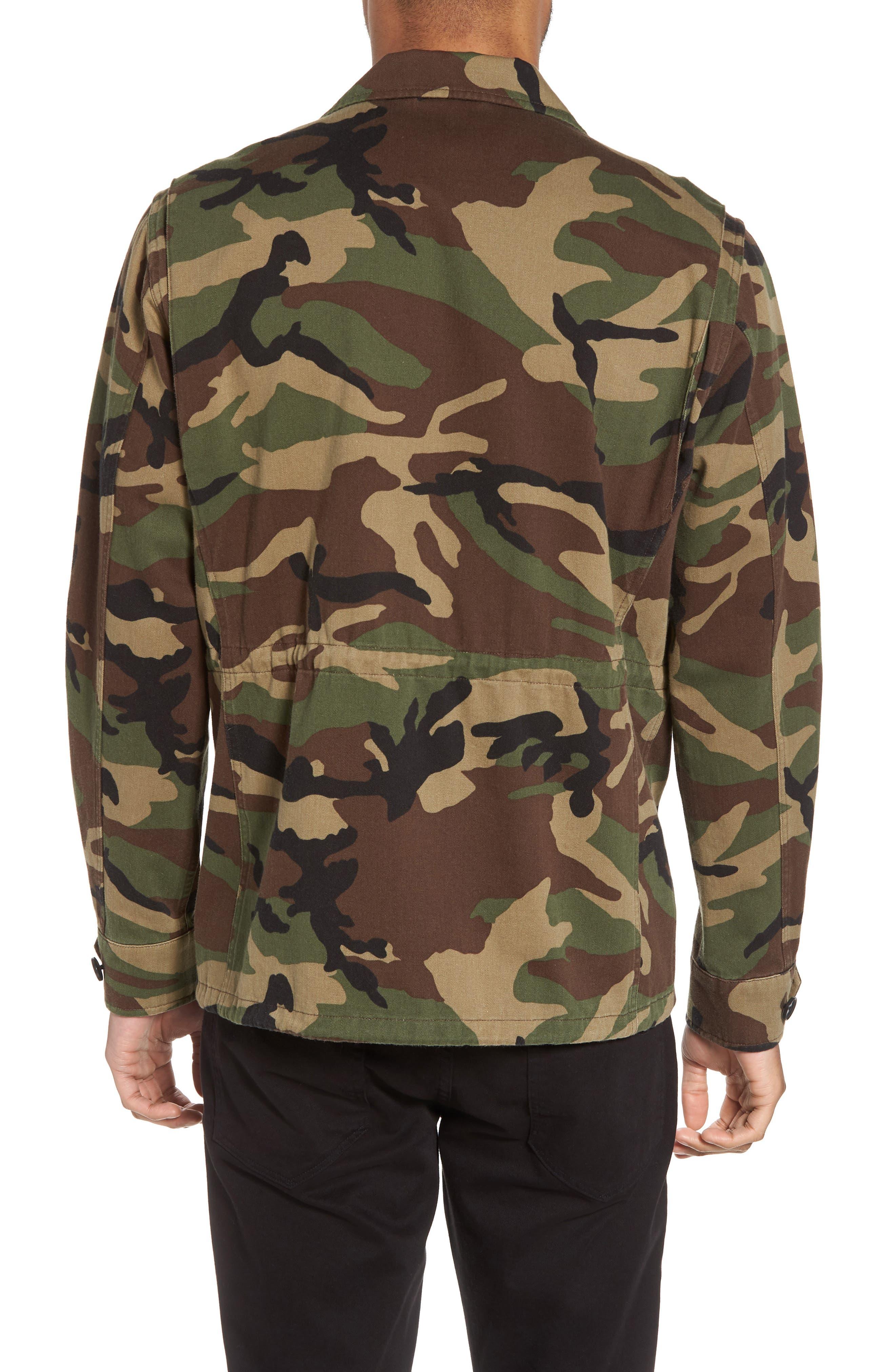 Slim Fit Camo Jacket,                             Alternate thumbnail 2, color,                             300