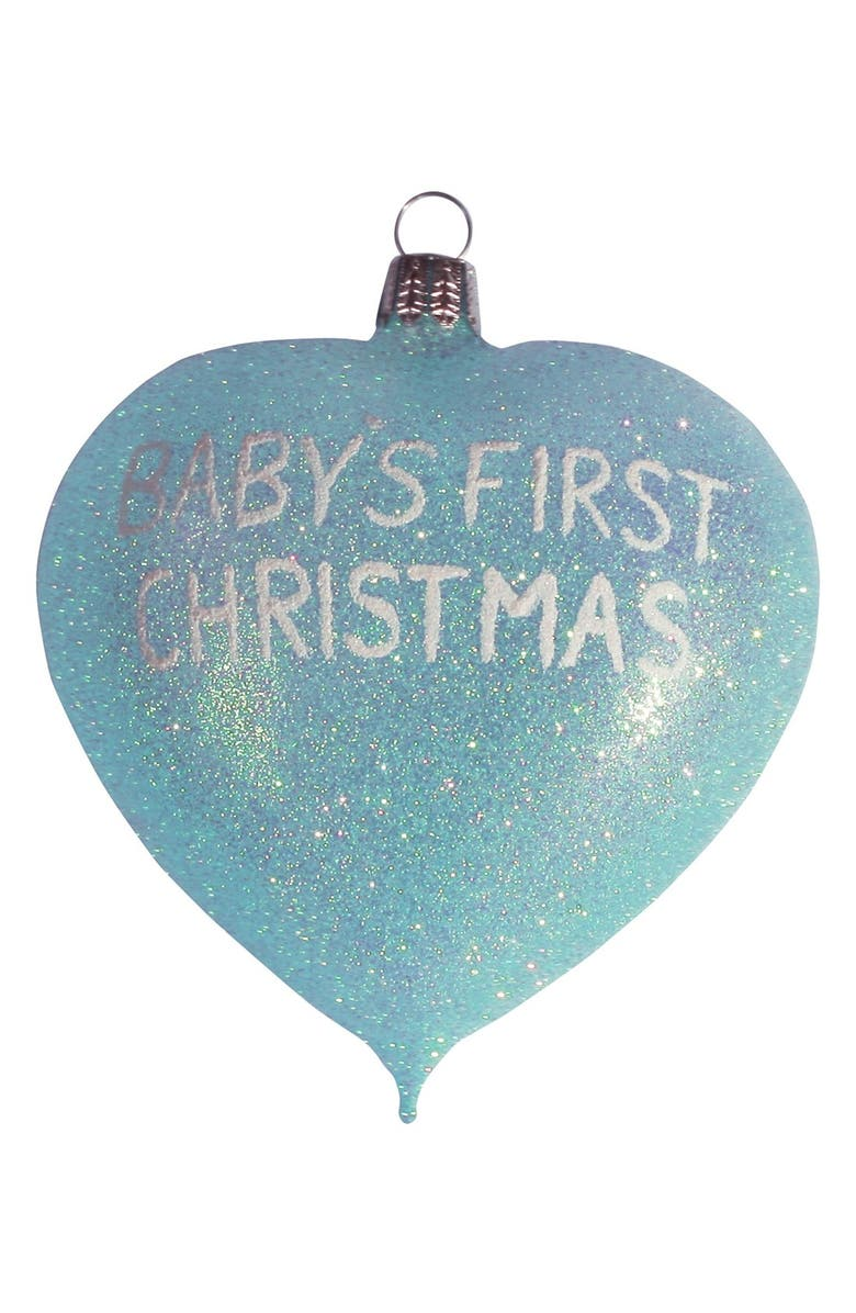 'Baby's First Christmas 2013' Heart Ornament, Main, color, ...
