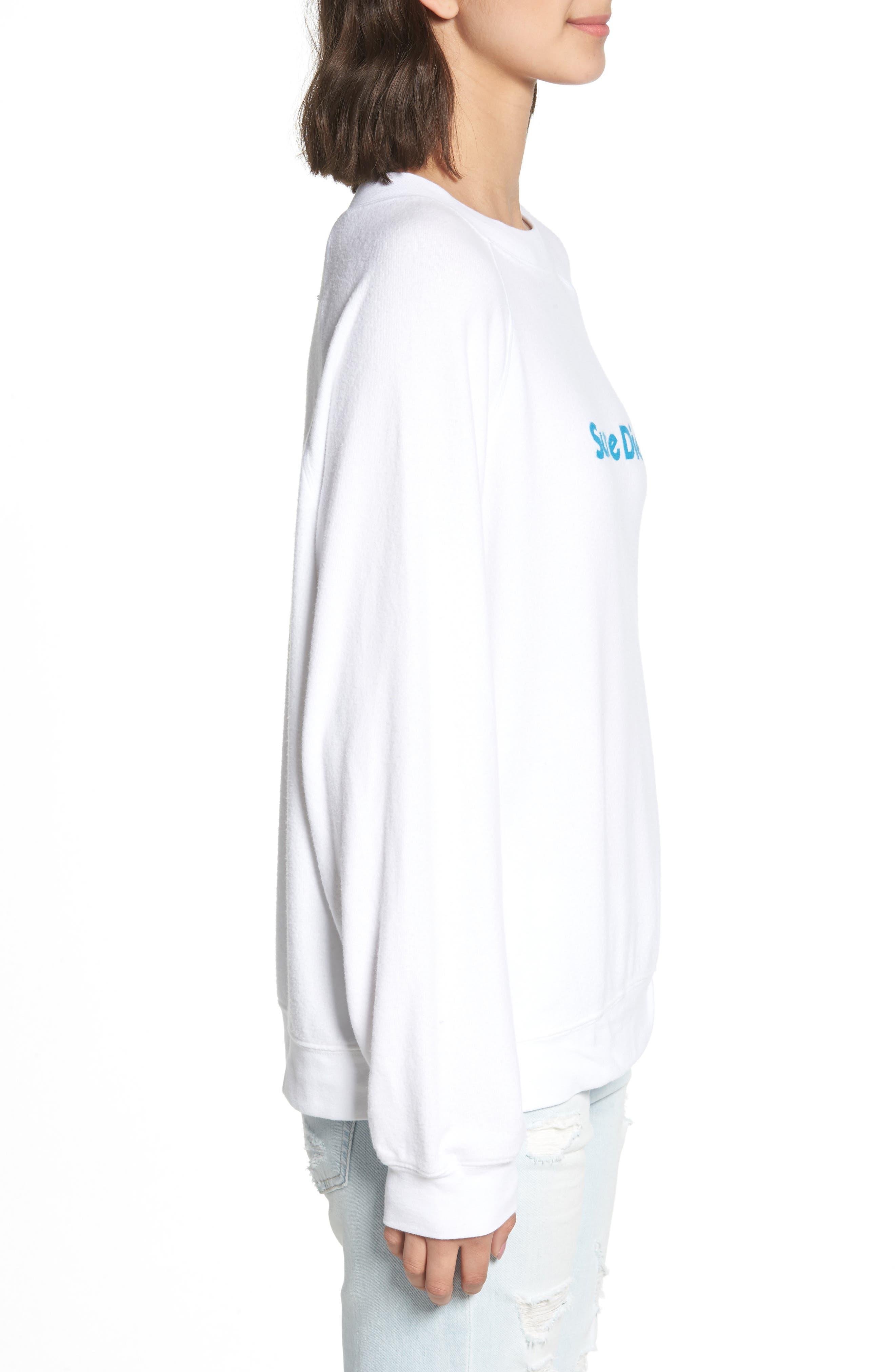 Sunshine Diet Sommers Sweatshirt,                             Alternate thumbnail 3, color,                             CLEAN WHITE
