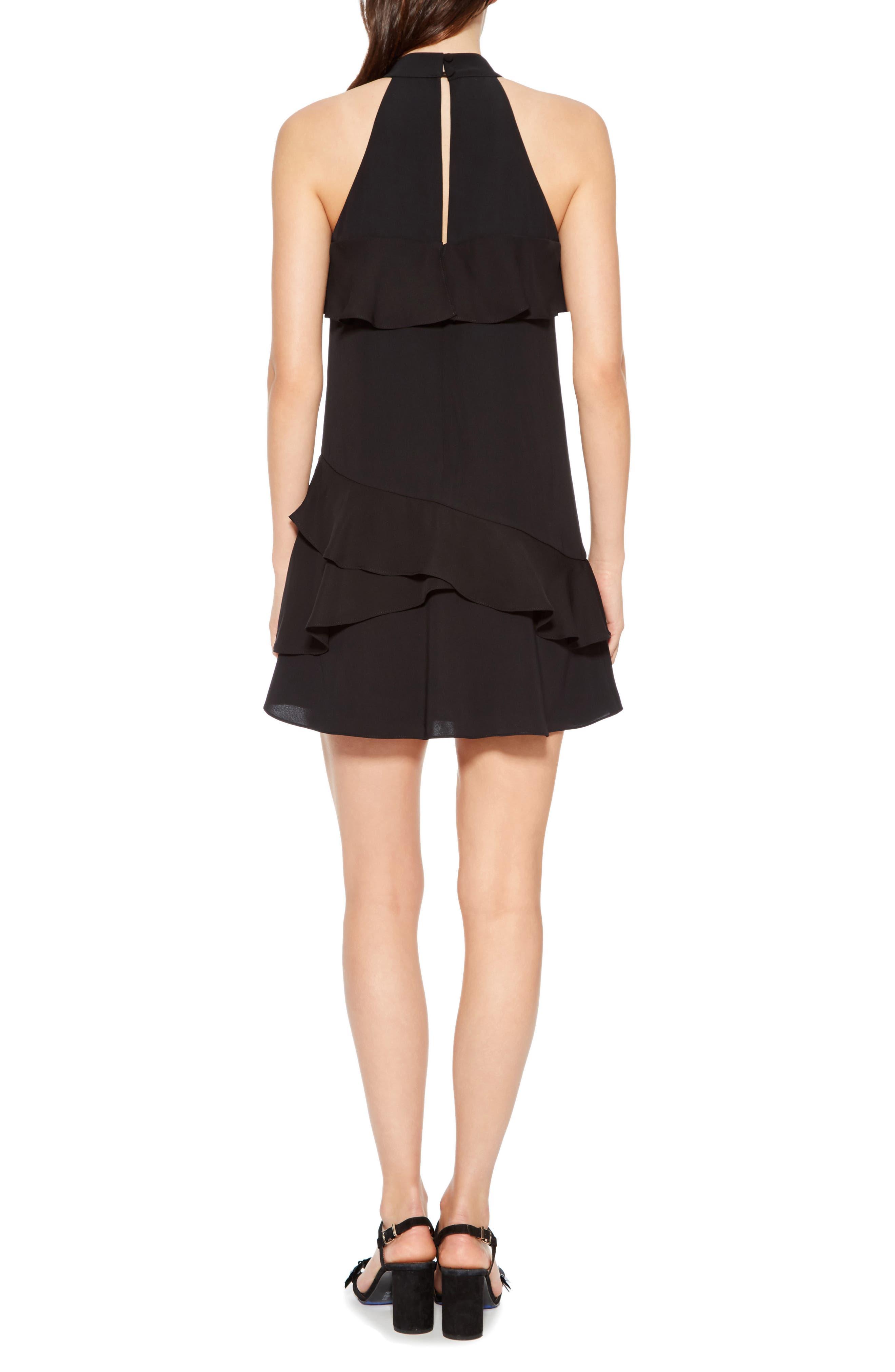 Serafina Combo Dress,                             Alternate thumbnail 2, color,                             BLACK