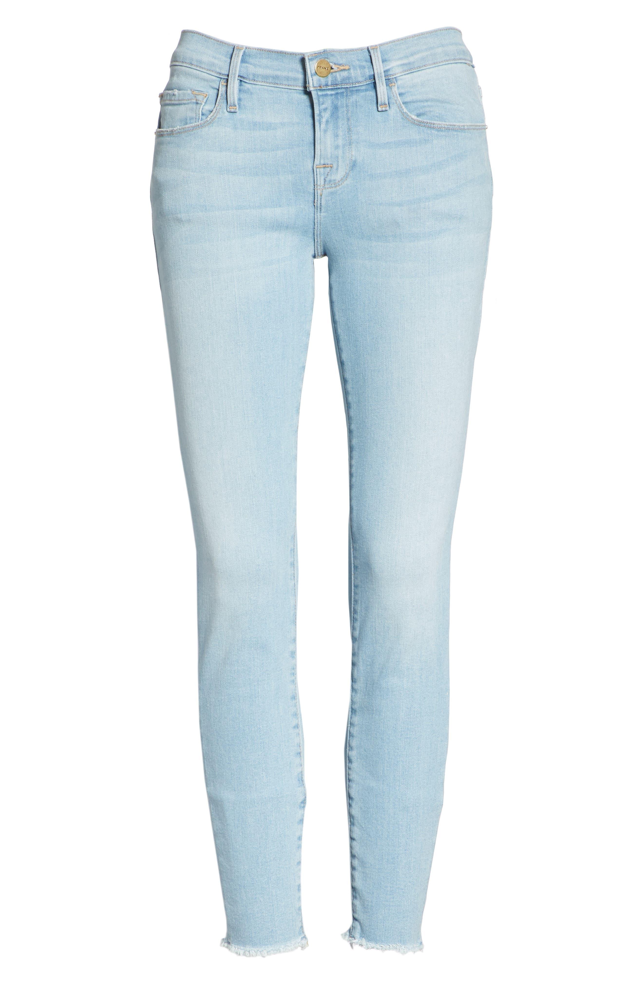 Le Skinny de Jeanne Raw Hem Crop Skinny Jeans,                             Alternate thumbnail 7, color,                             JEROME