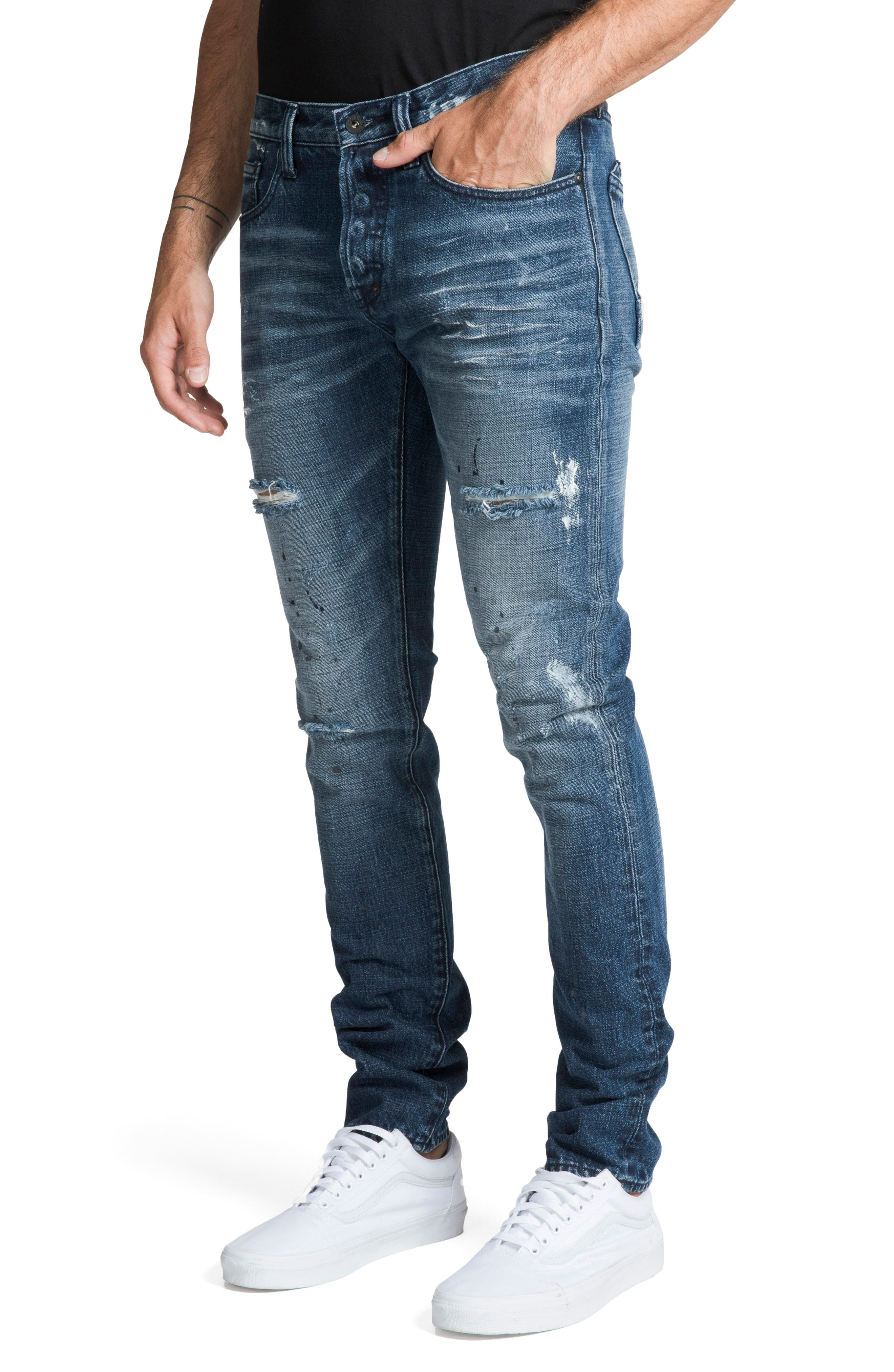 Le Sabre Slim Fit Jeans,                             Alternate thumbnail 3, color,                             PERPETUAL
