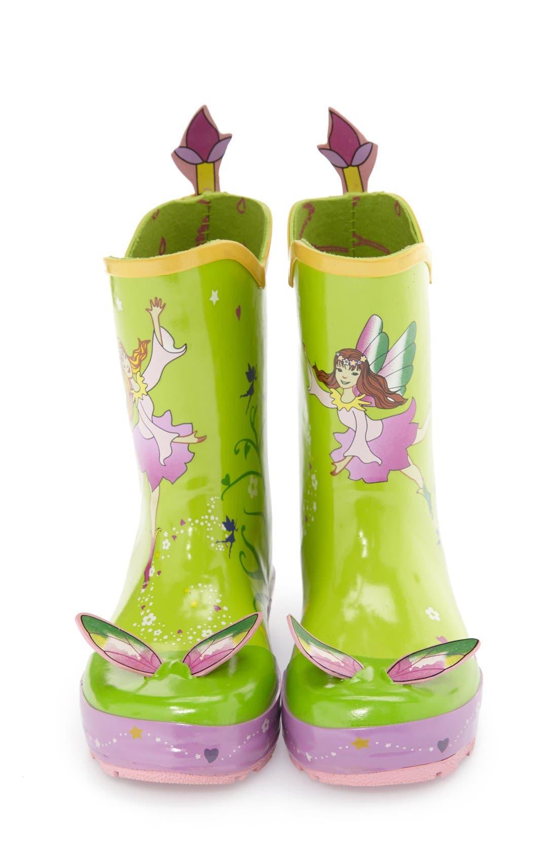 'Fairy' Waterproof Rain Boot,                             Alternate thumbnail 3, color,