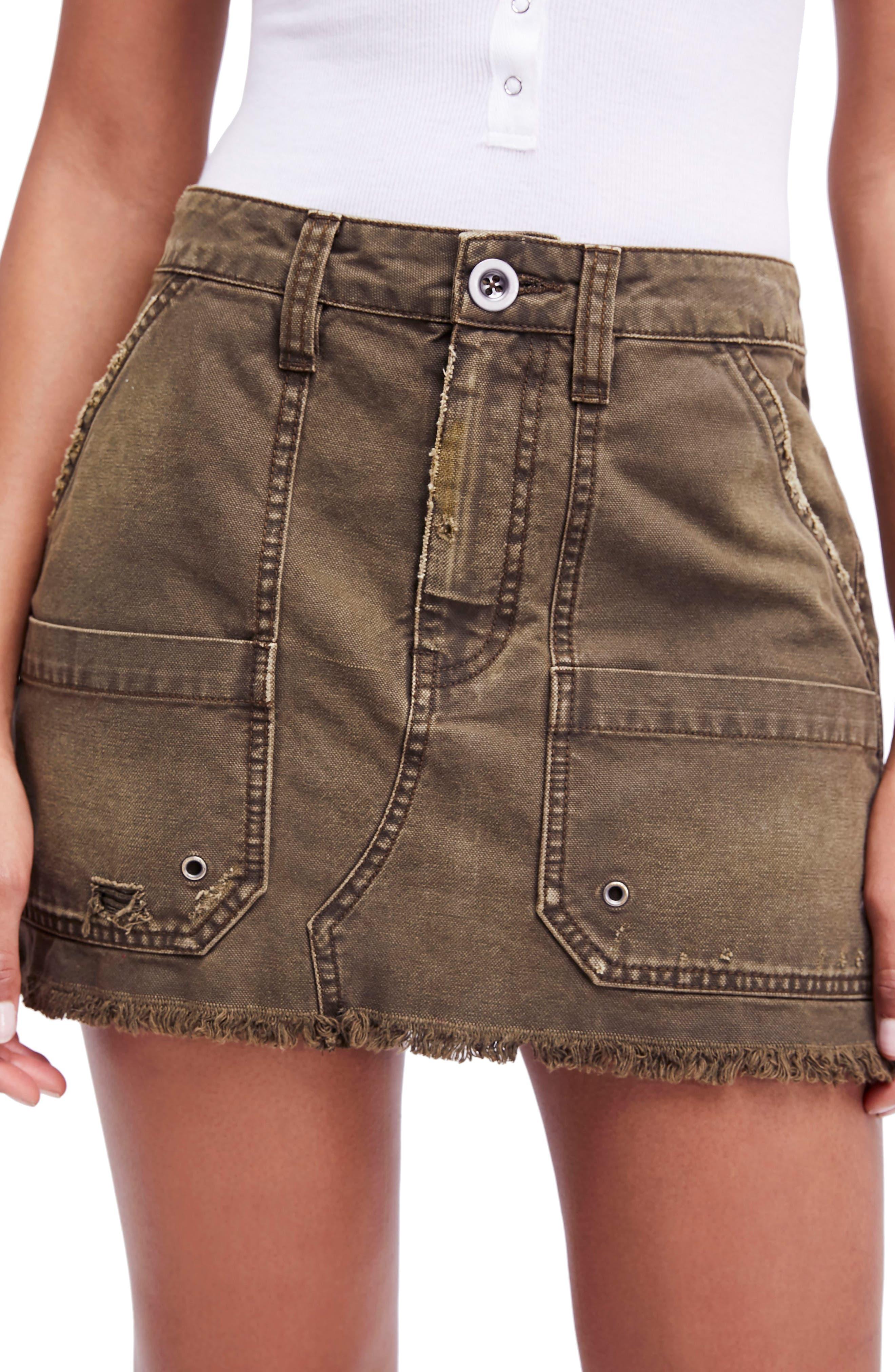 Canvas Miniskirt,                             Main thumbnail 2, color,