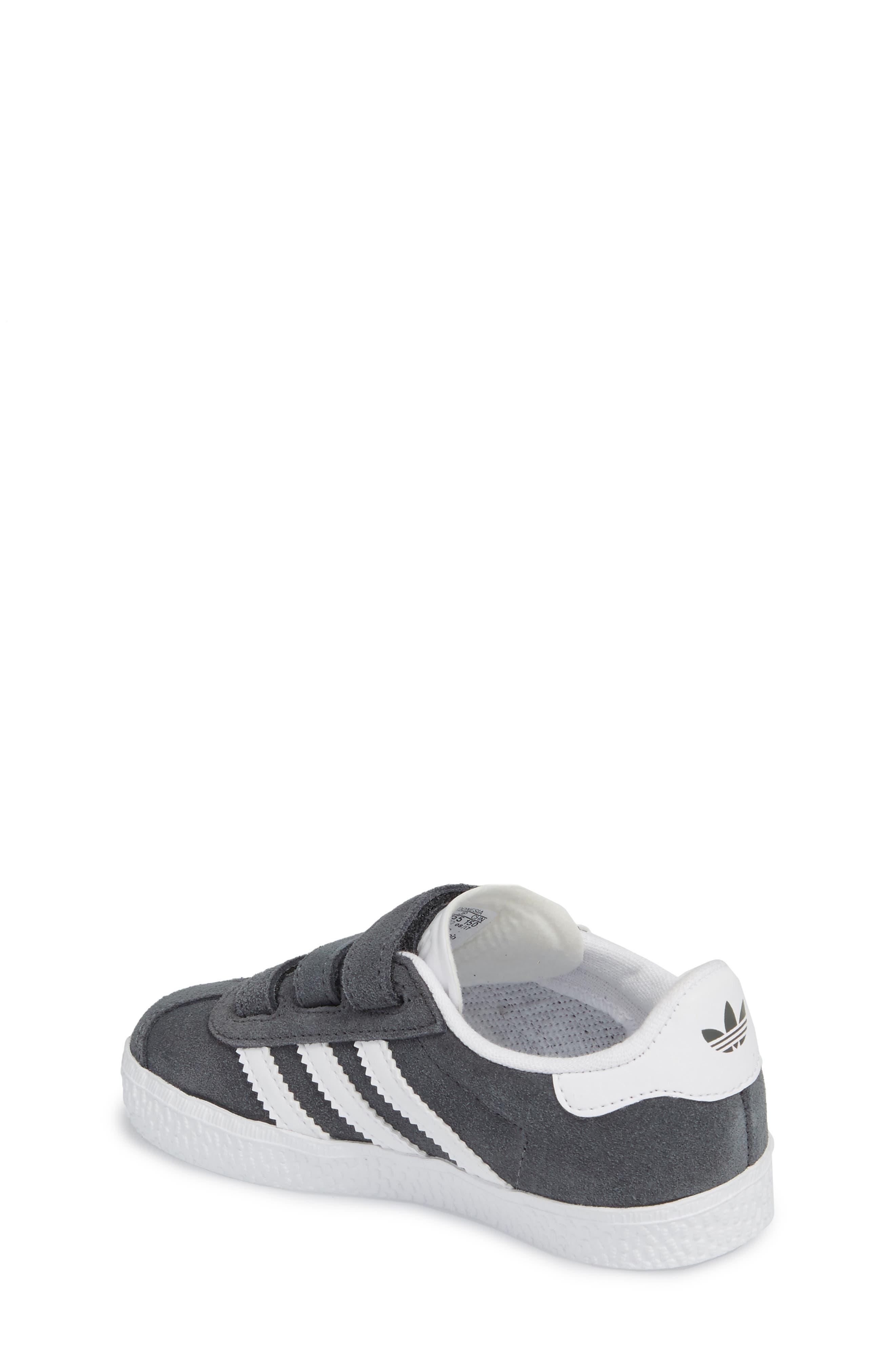 Gazelle Sneaker,                             Alternate thumbnail 2, color,                             SOLID GREY / WHITE / WHITE