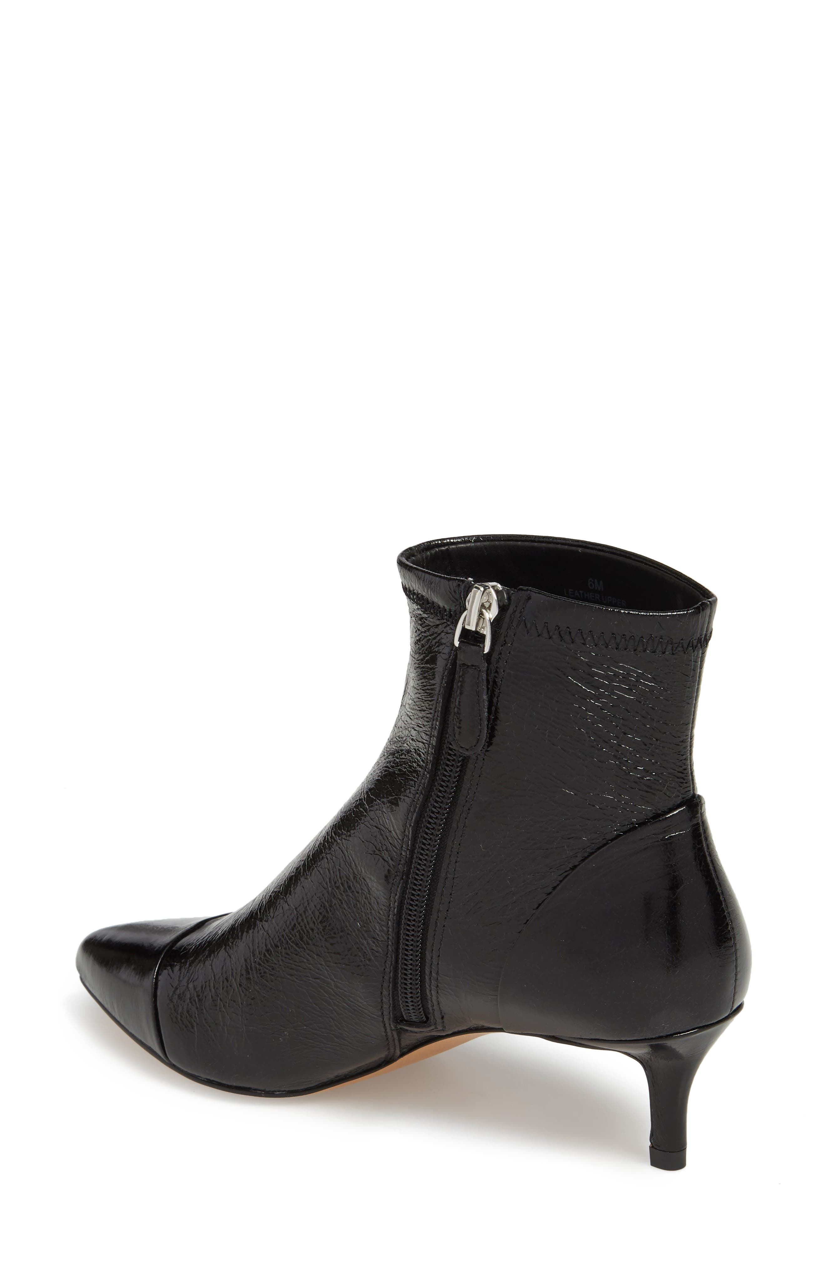 Siya Bootie,                             Alternate thumbnail 2, color,                             BLACK LEATHER