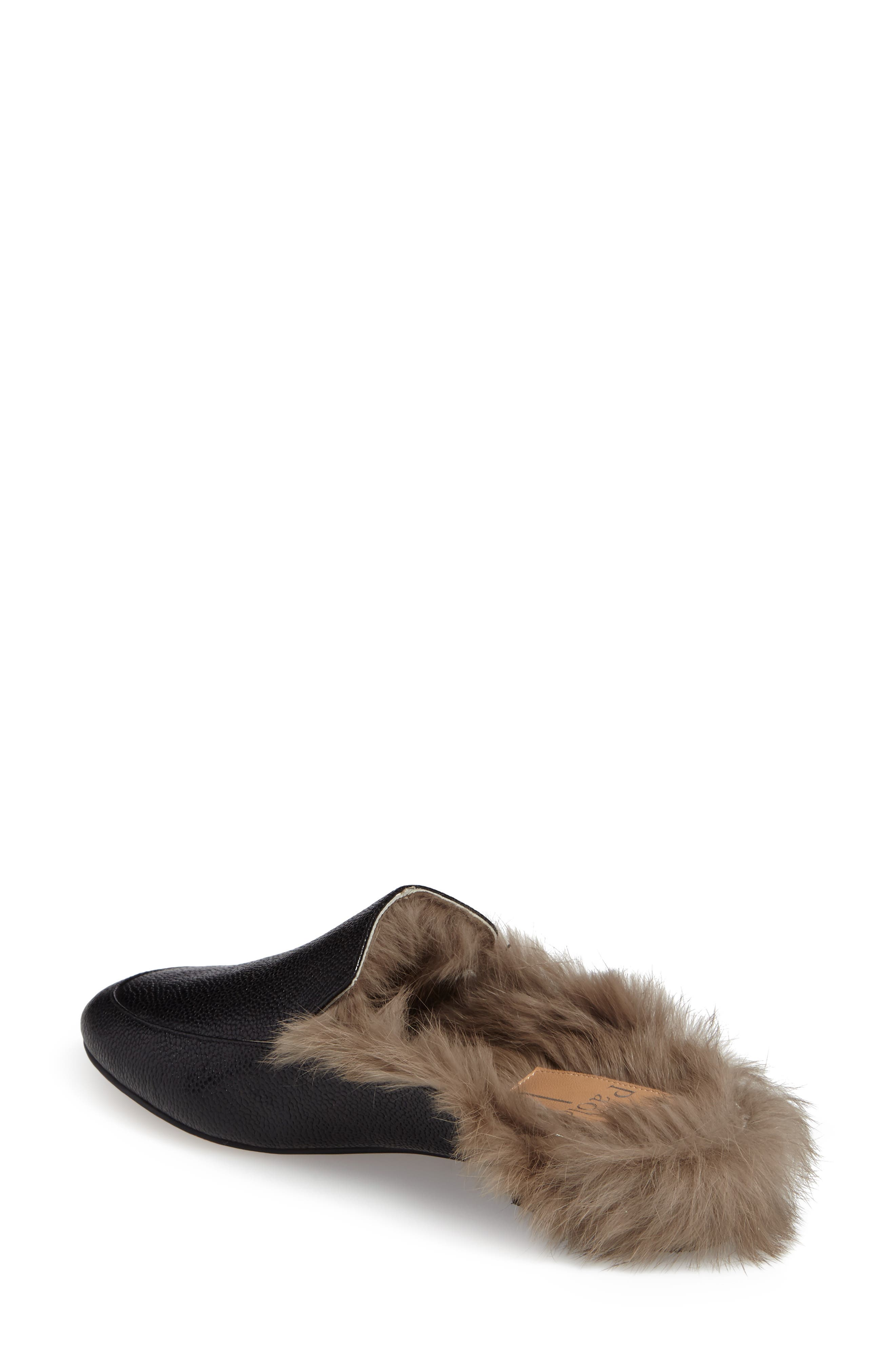 Asha Genuine Rabbit Fur Mule,                             Alternate thumbnail 3, color,